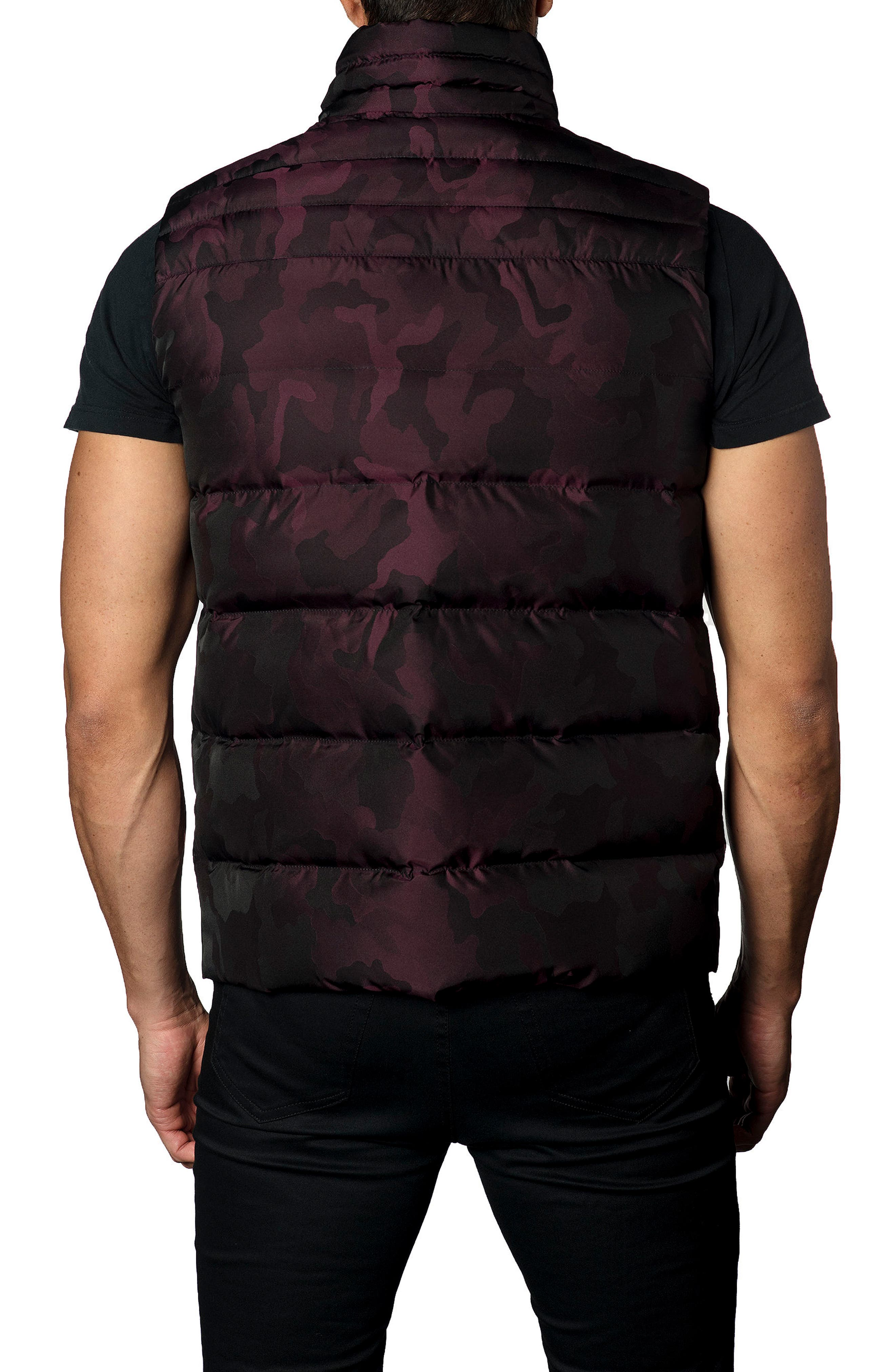 Camo Down Puffer Vest,                             Alternate thumbnail 8, color,