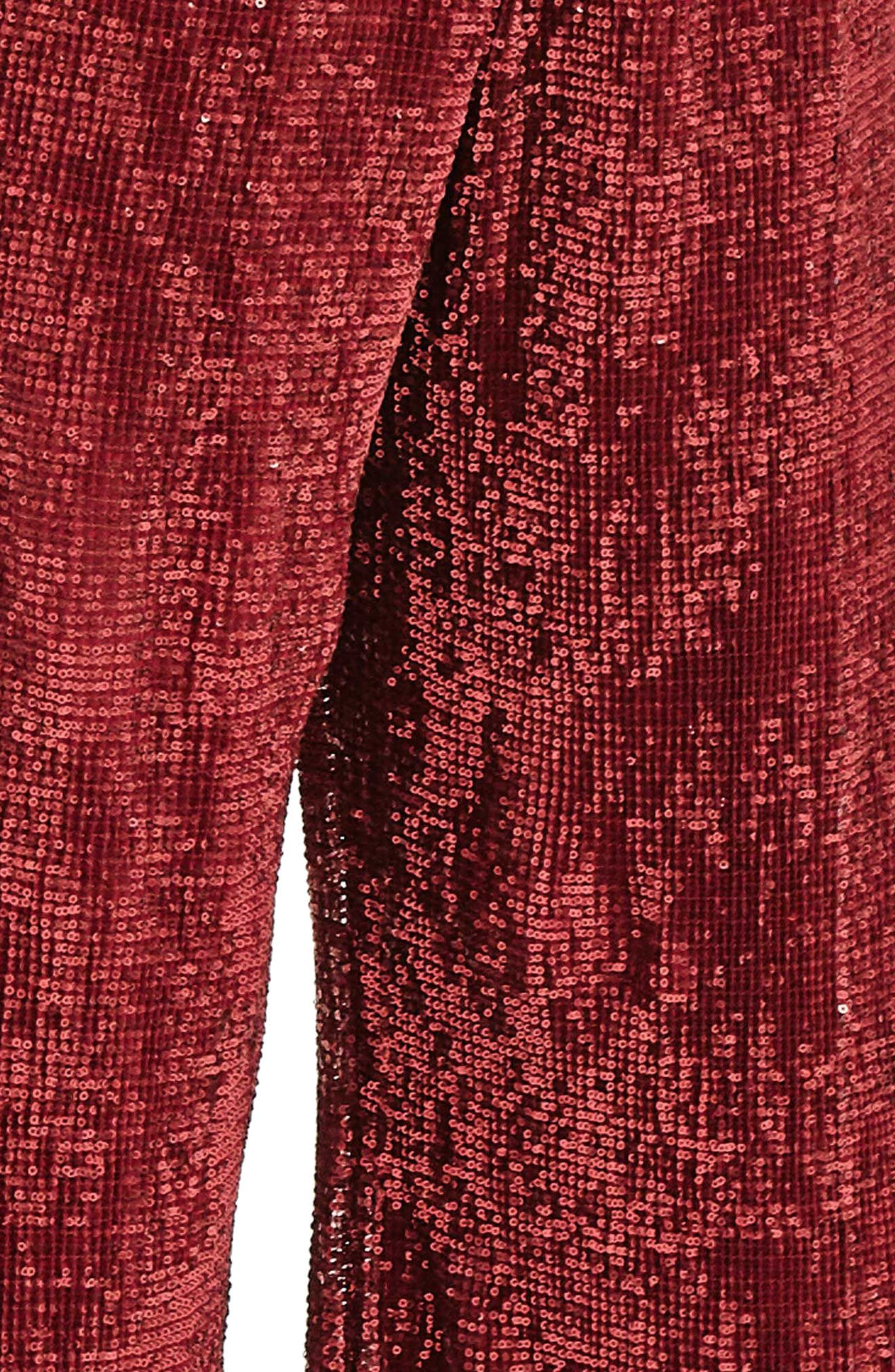 Red Sequin Trousers,                             Alternate thumbnail 4, color,                             600