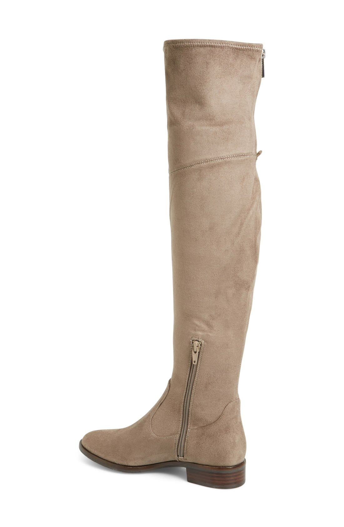 'Livi' Faux Suede Over the Knee Boot,                             Alternate thumbnail 4, color,                             250