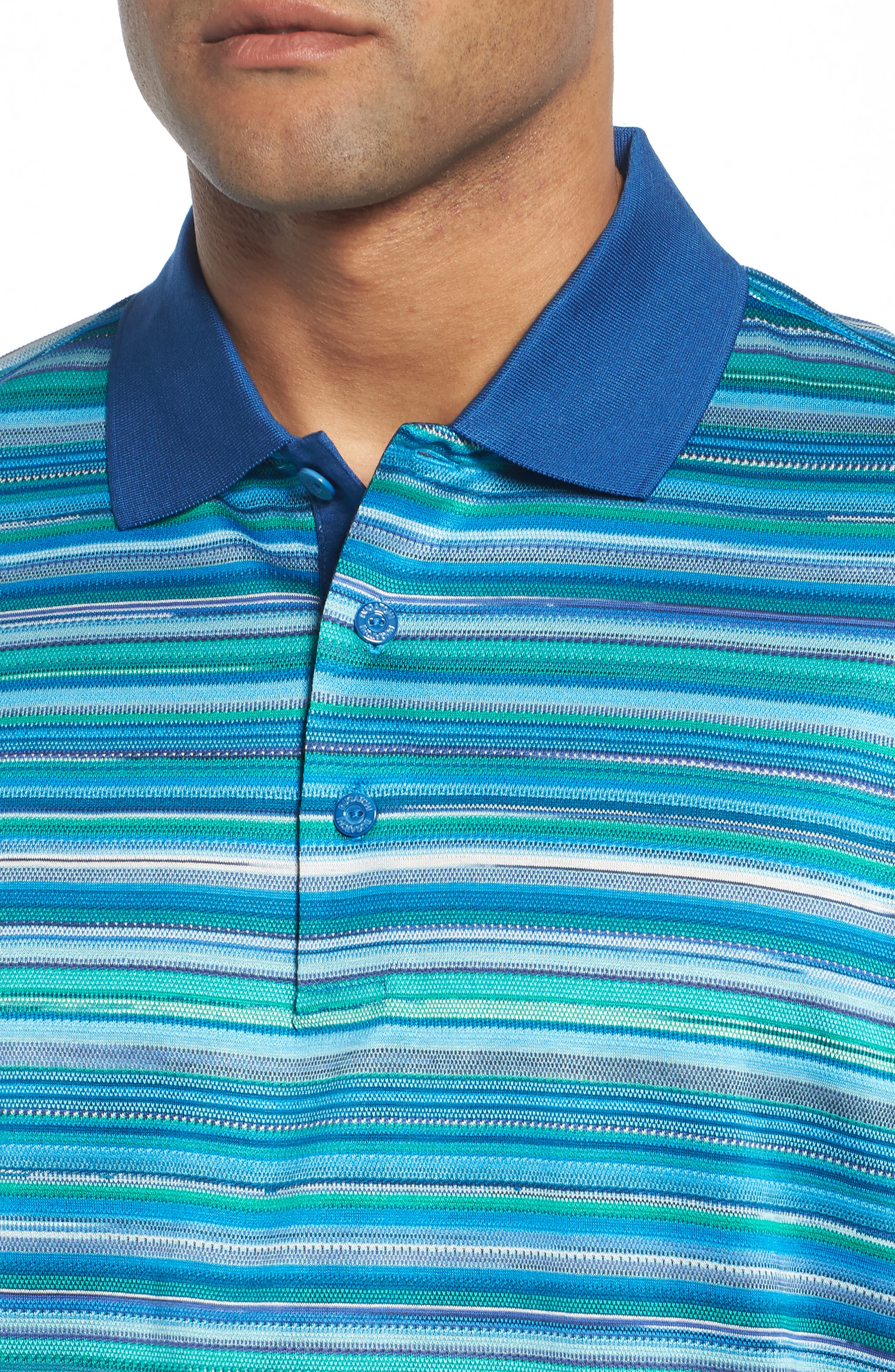 Stripe Mercerized Cotton Polo,                             Alternate thumbnail 4, color,                             329
