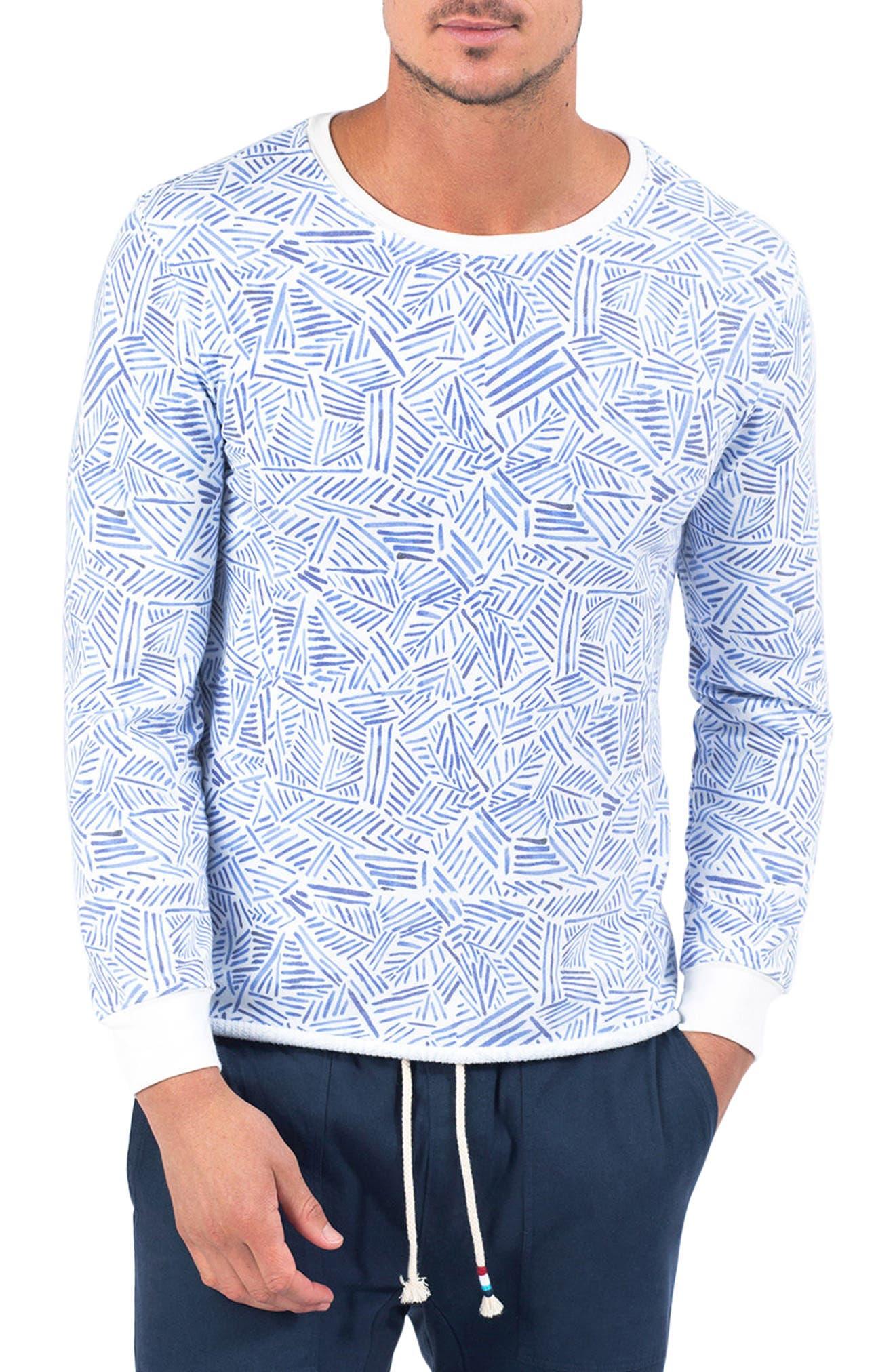 Habana Blues Fleece Pullover,                         Main,                         color, HABANA BLUES