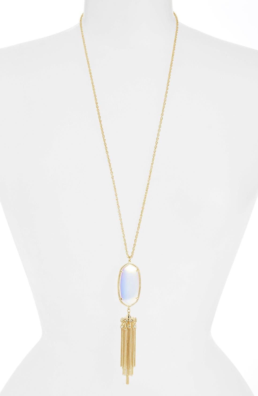 Rayne Stone Tassel Pendant Necklace,                             Main thumbnail 71, color,