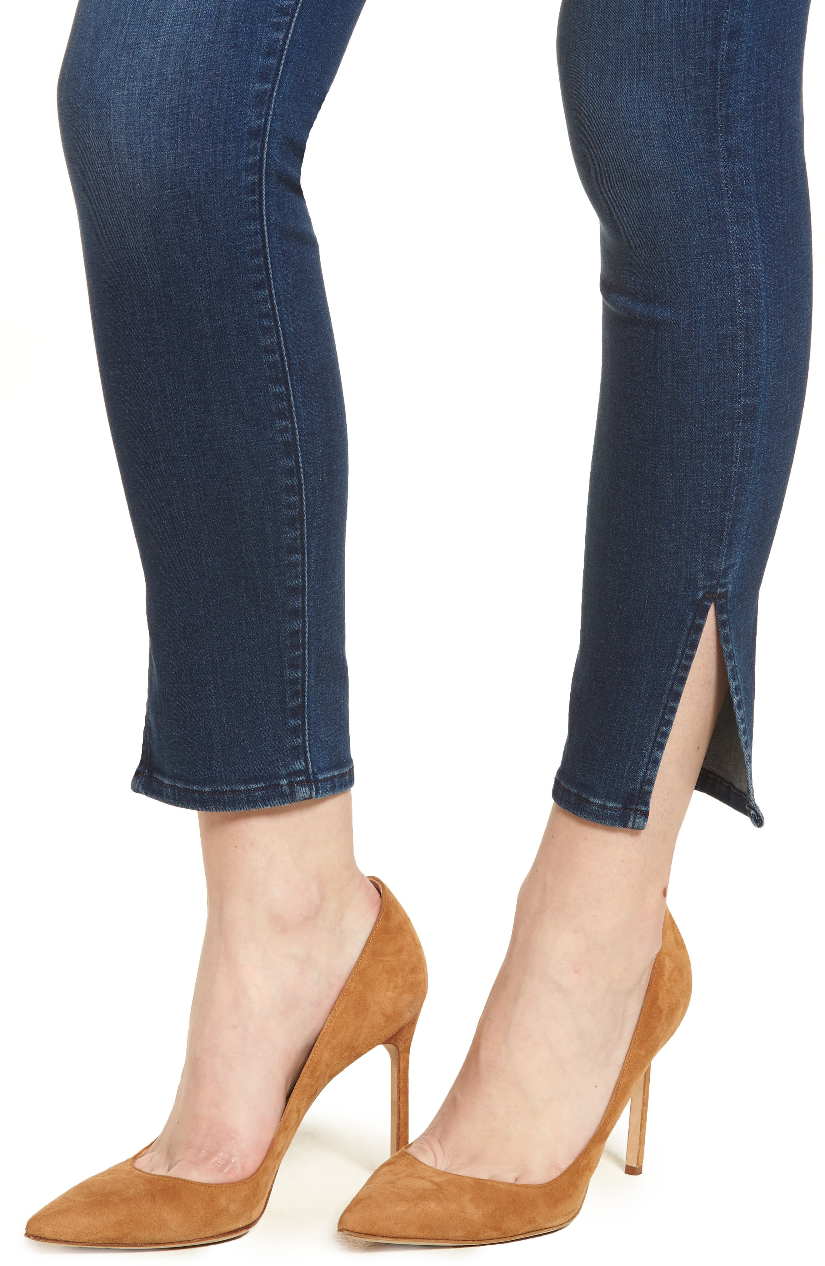 b(air) - Aubrey High Waist Skinny Jeans,                             Alternate thumbnail 4, color,                             400