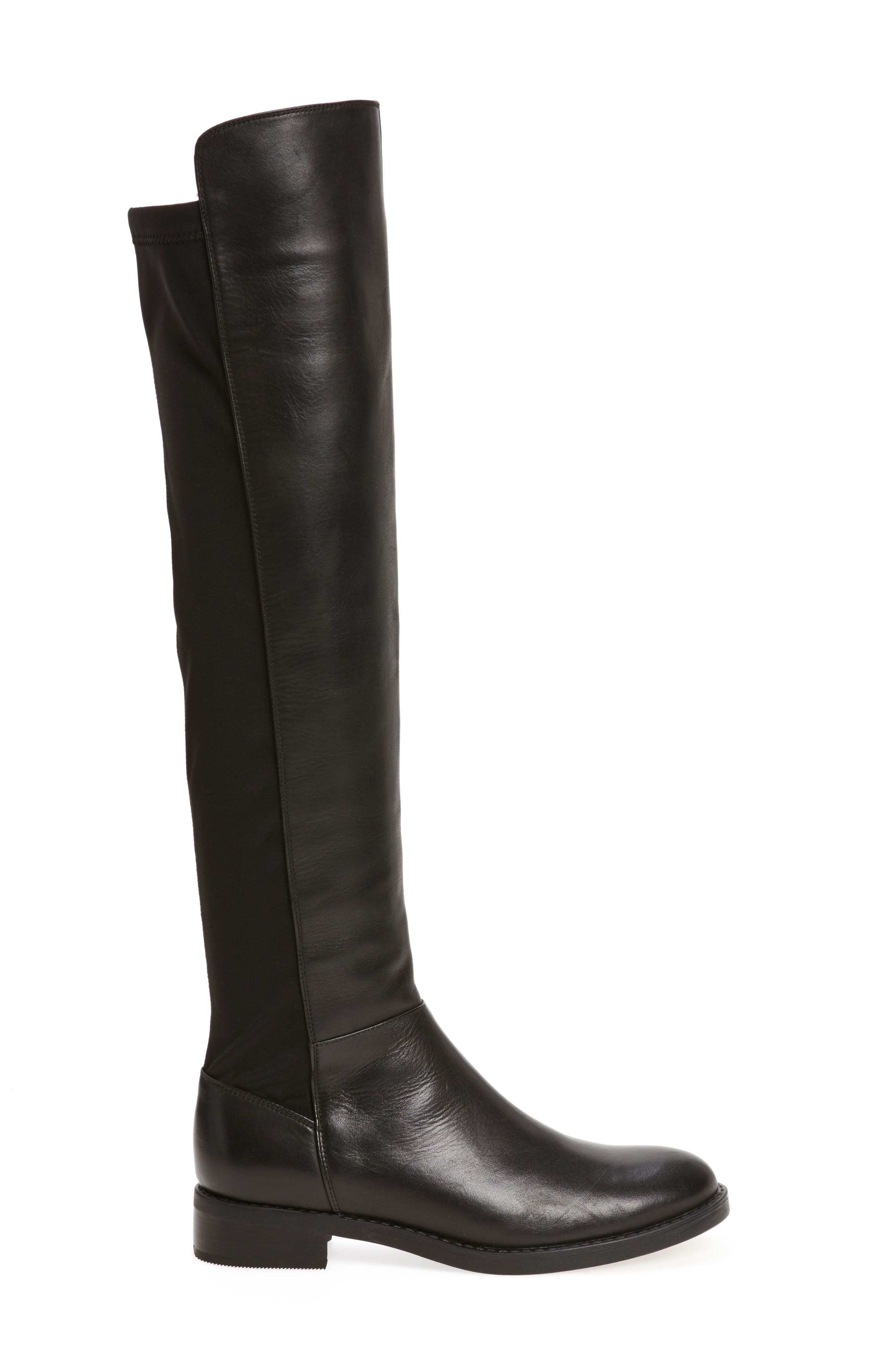 Olivia Knee High Boot,                             Alternate thumbnail 3, color,                             001