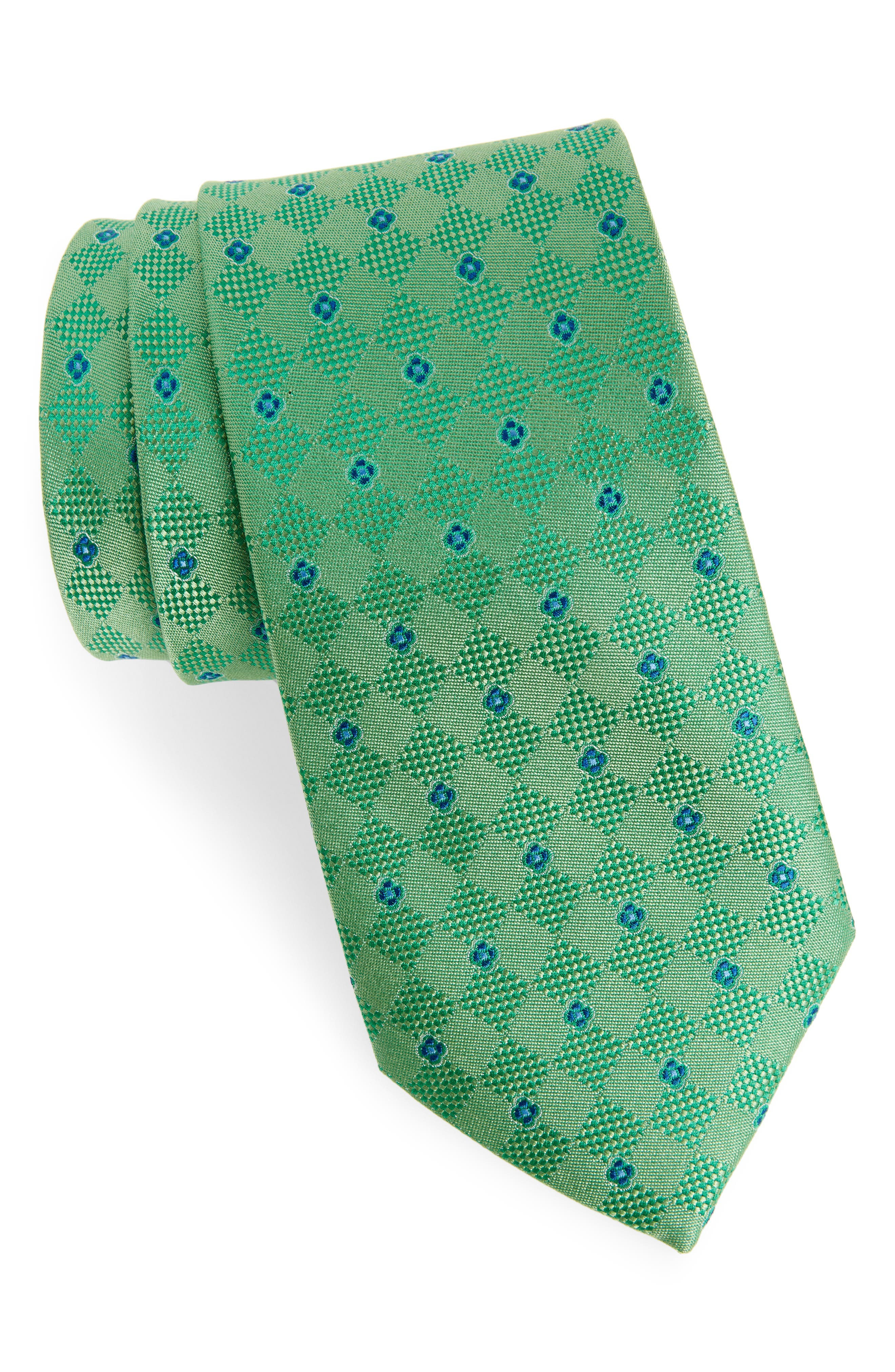 Augustine Silk Tie,                             Main thumbnail 1, color,                             GREEN