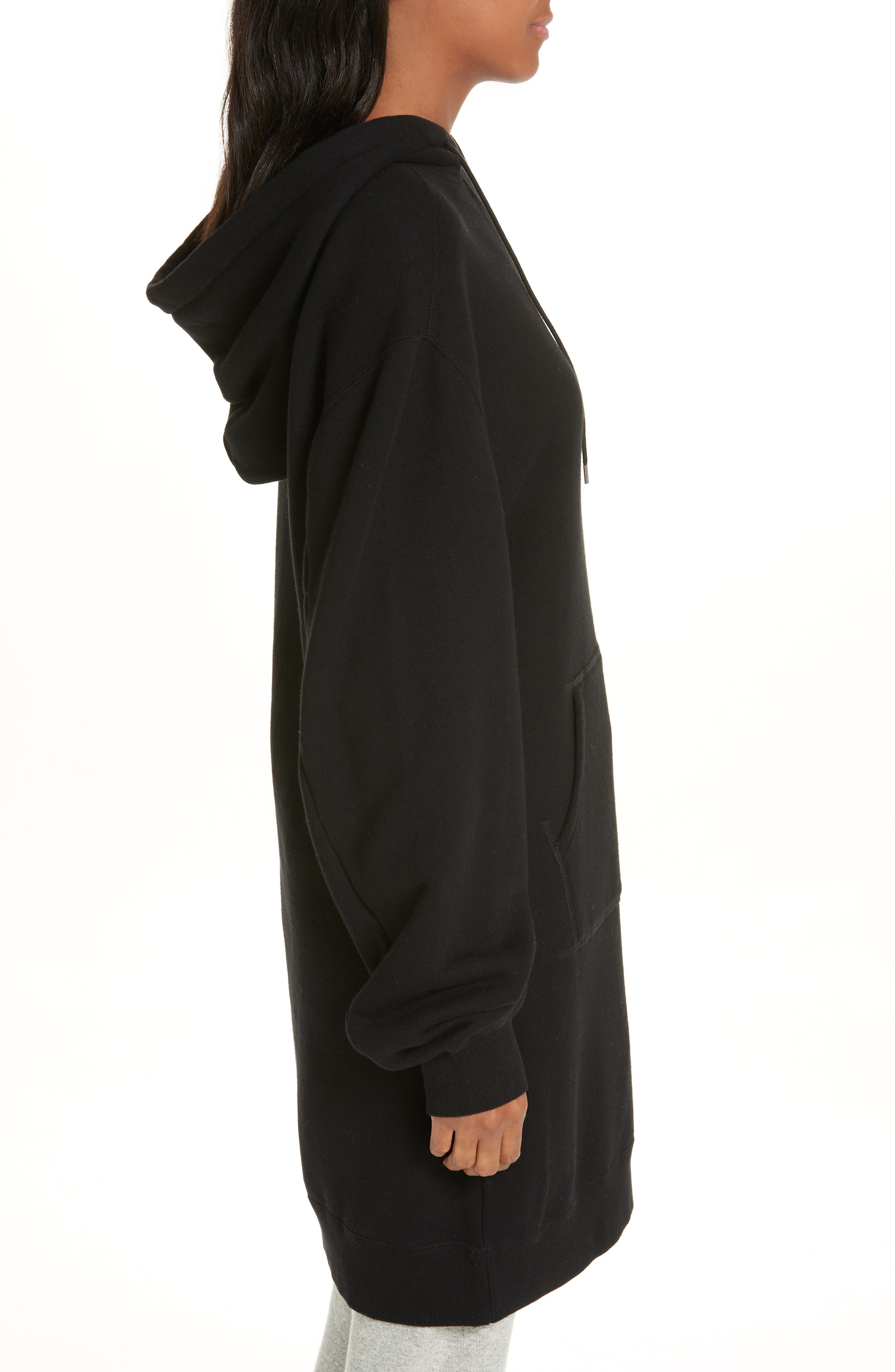 Hoodie Dress,                             Alternate thumbnail 3, color,                             001