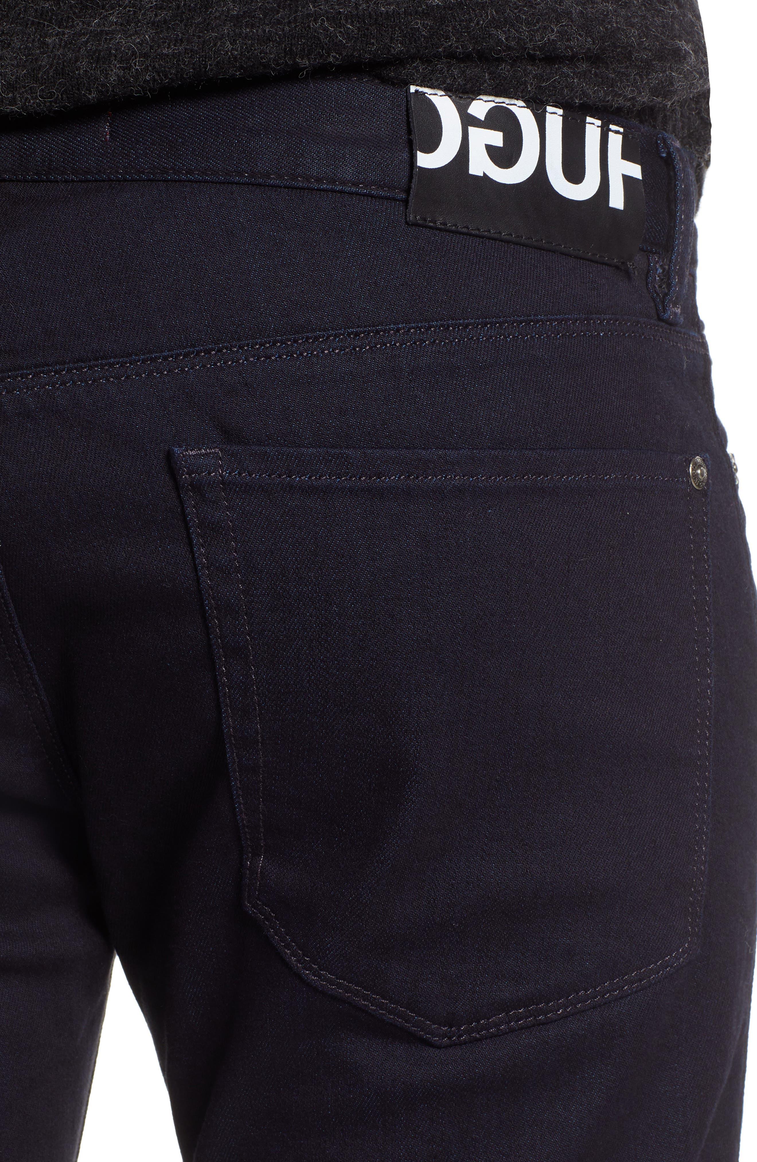 Dressy Slim Fit Jeans,                             Alternate thumbnail 4, color,                             401