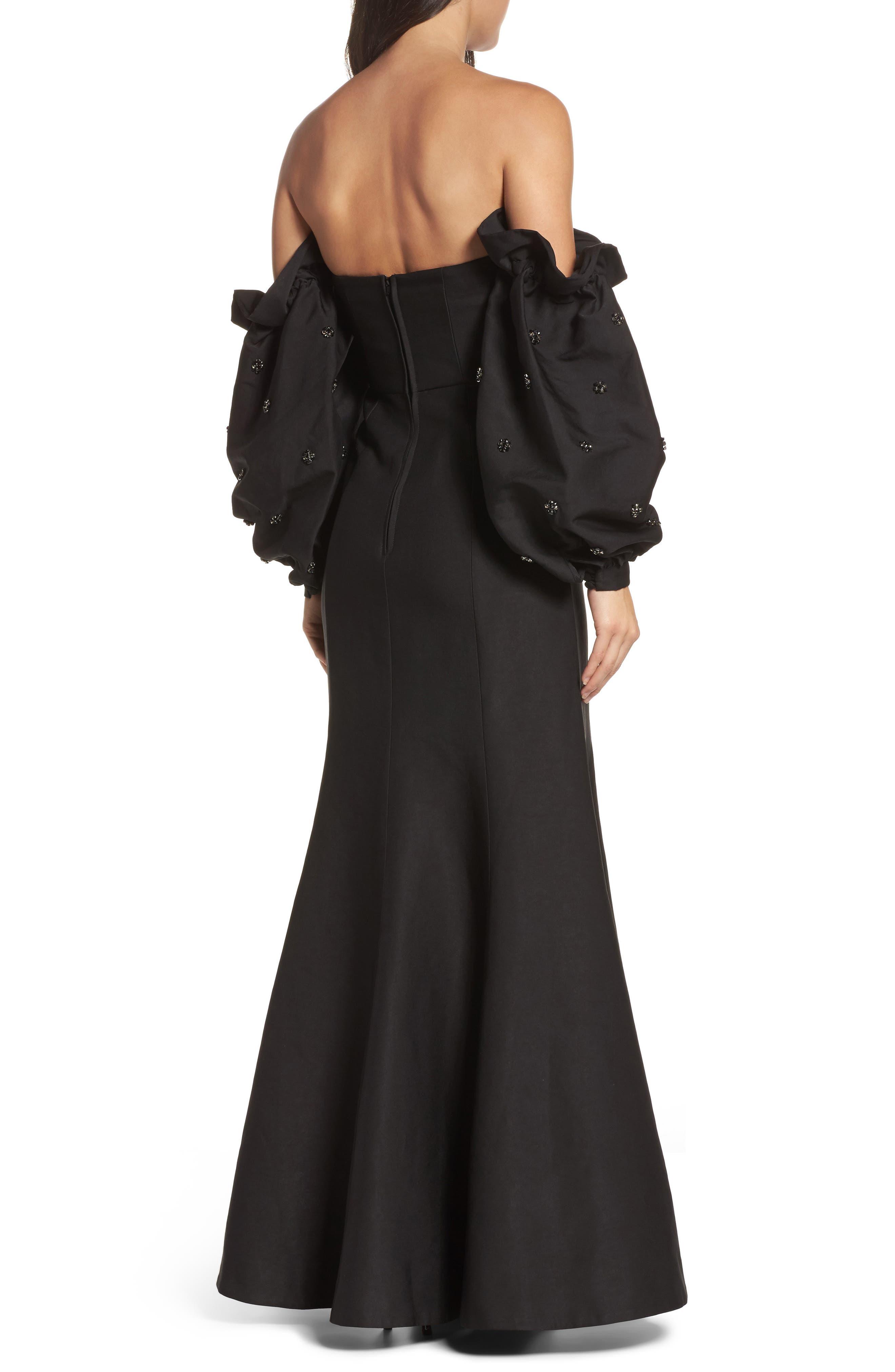 Assemble Embellished Off the Shoulder Gown,                             Alternate thumbnail 2, color,