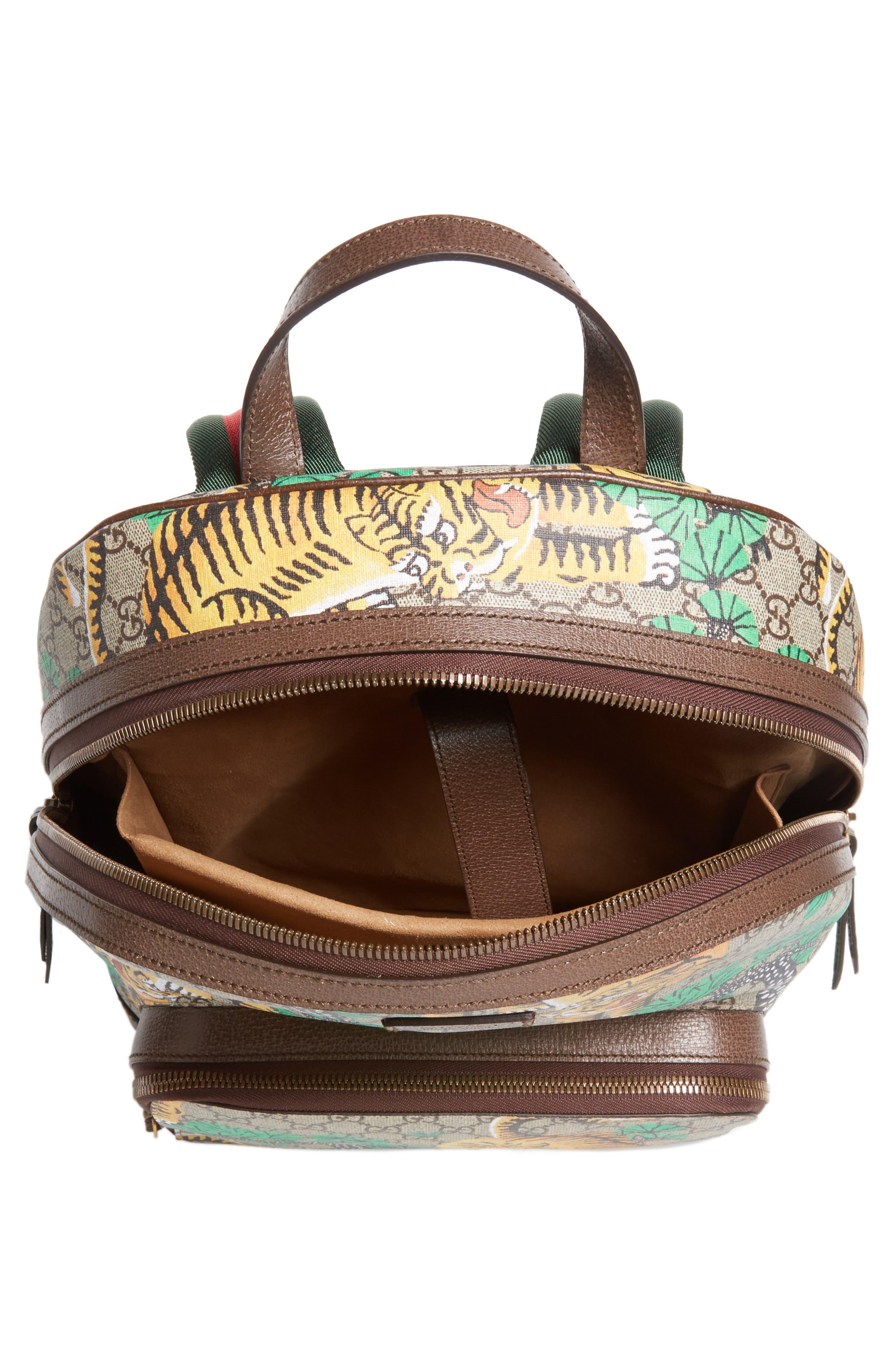 Tiger Cub Supreme Canvas Backpack,                             Alternate thumbnail 4, color,                             250
