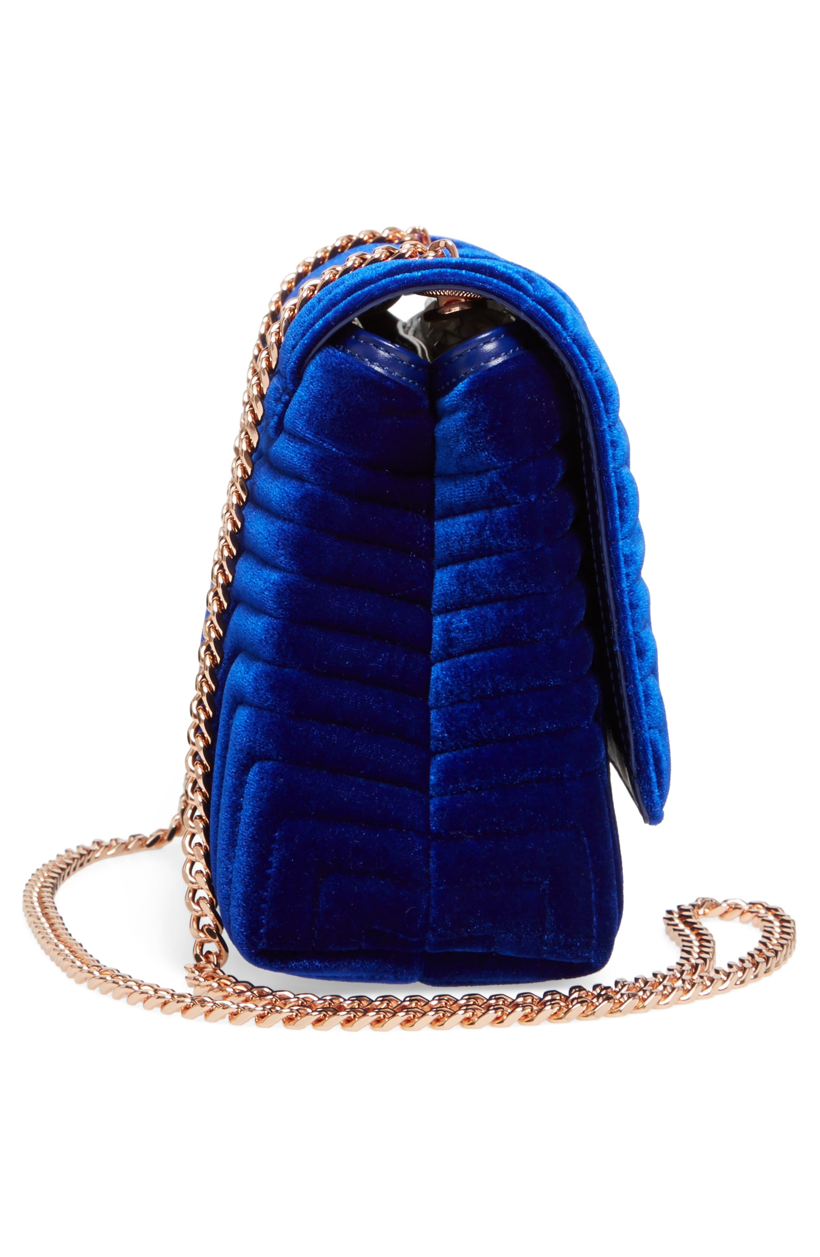 Quilted Velvet Crossbody Bag,                             Alternate thumbnail 18, color,