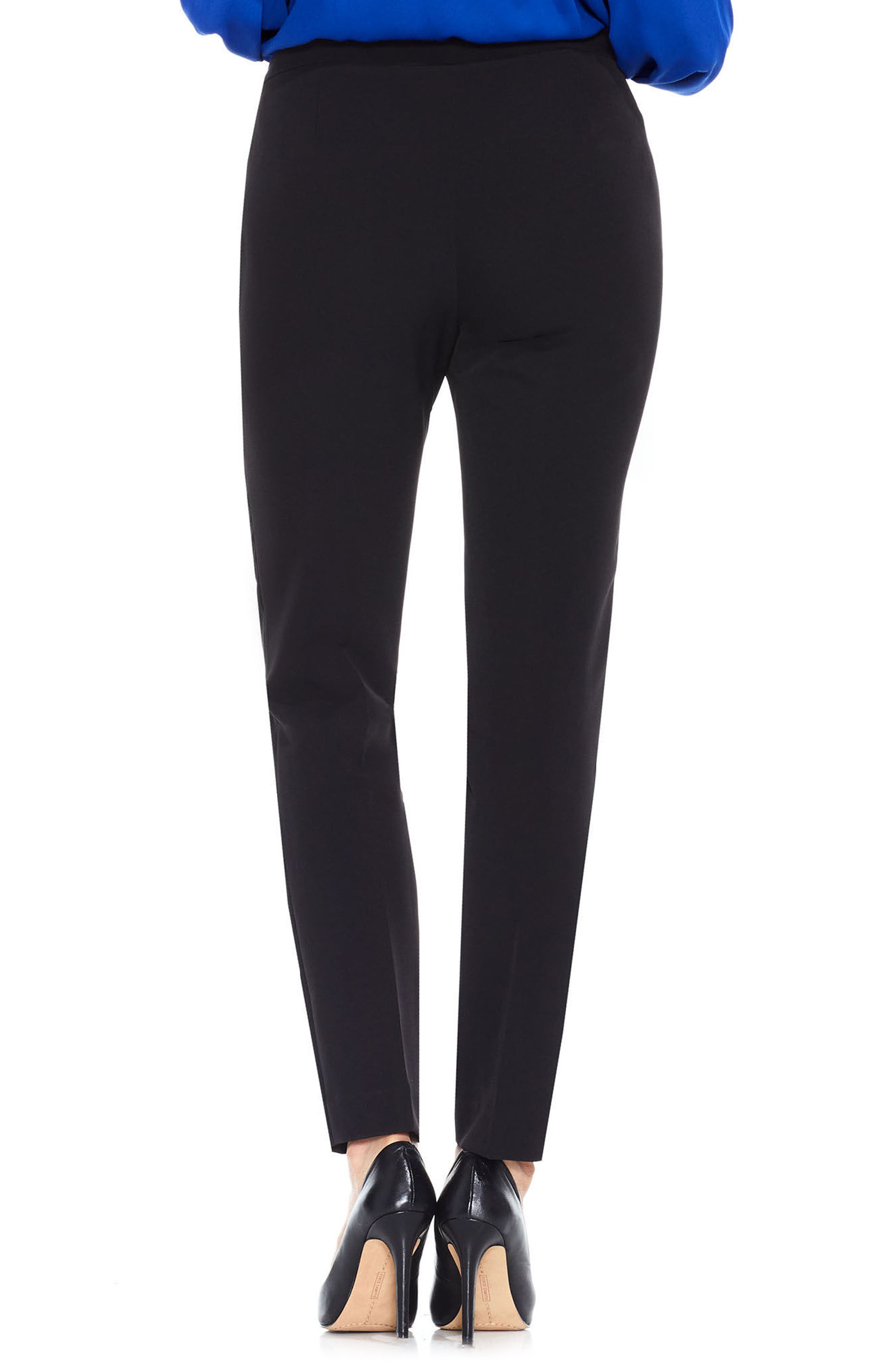 VINCE CAMUTO,                             Stretch Twill Ankle Pants,                             Alternate thumbnail 2, color,                             RICH BLACK