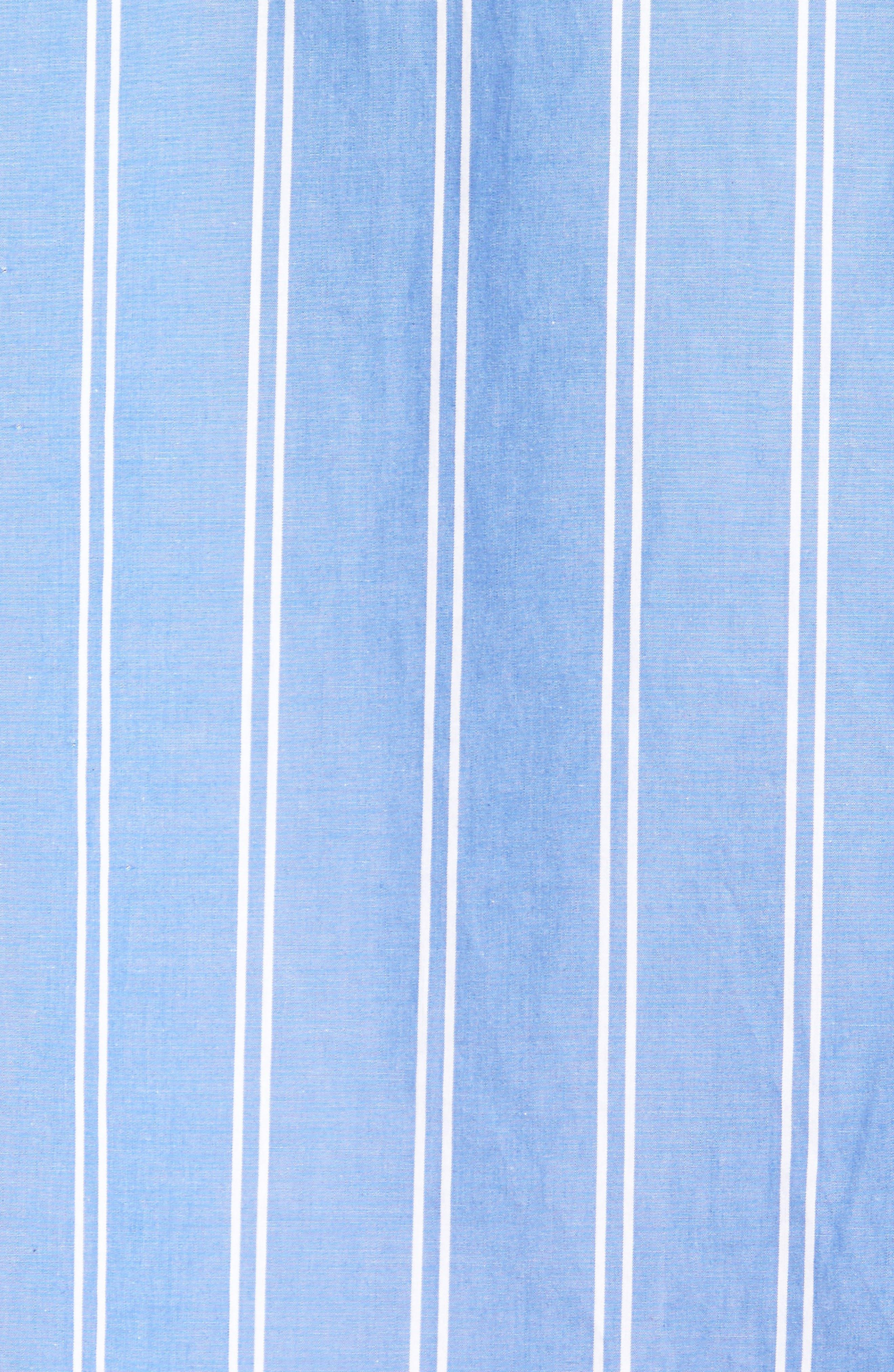 Stripe Step Hem Shirt,                             Alternate thumbnail 5, color,                             450