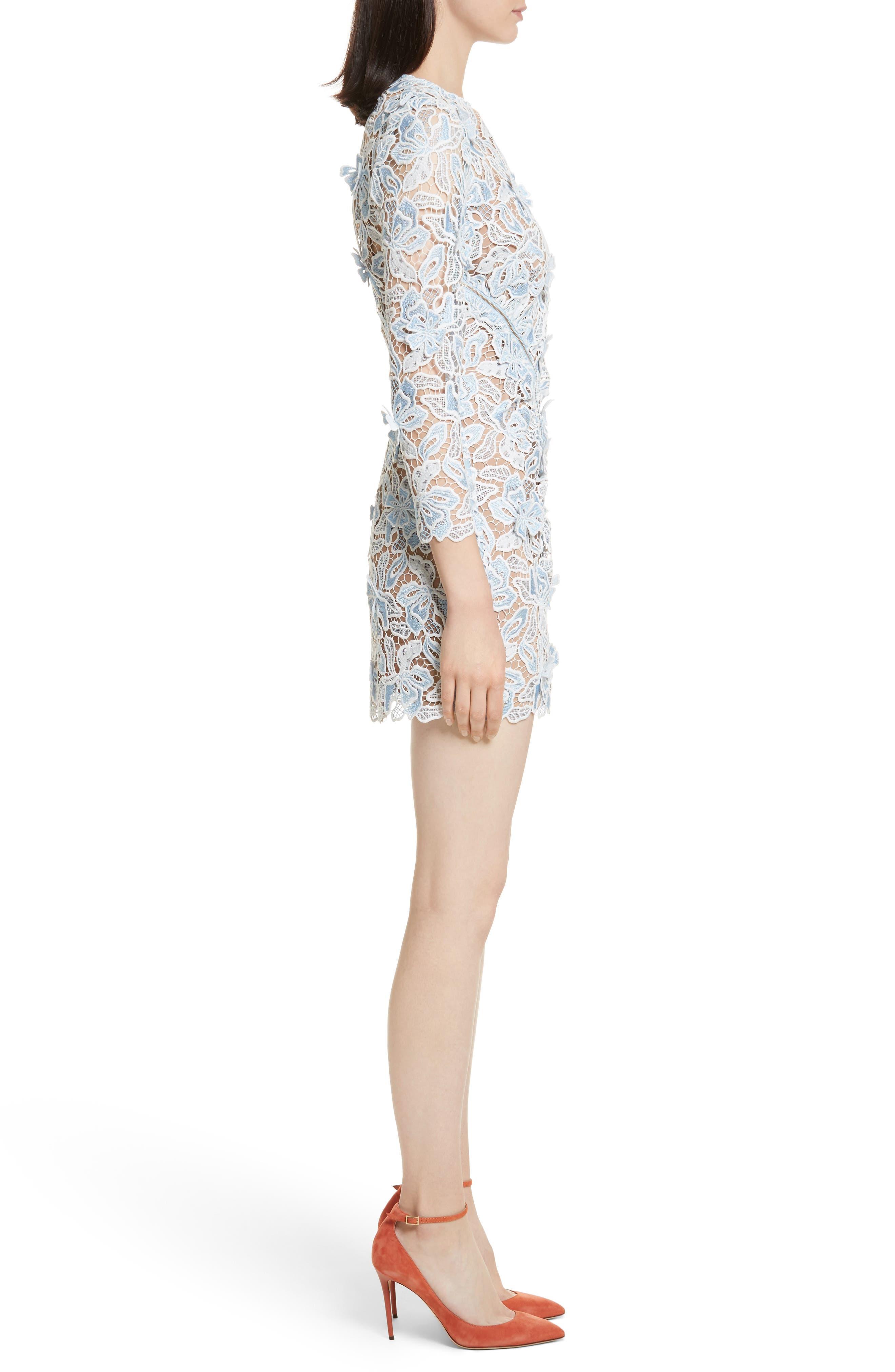 Lily 3D Lace Minidress,                             Alternate thumbnail 3, color,                             400