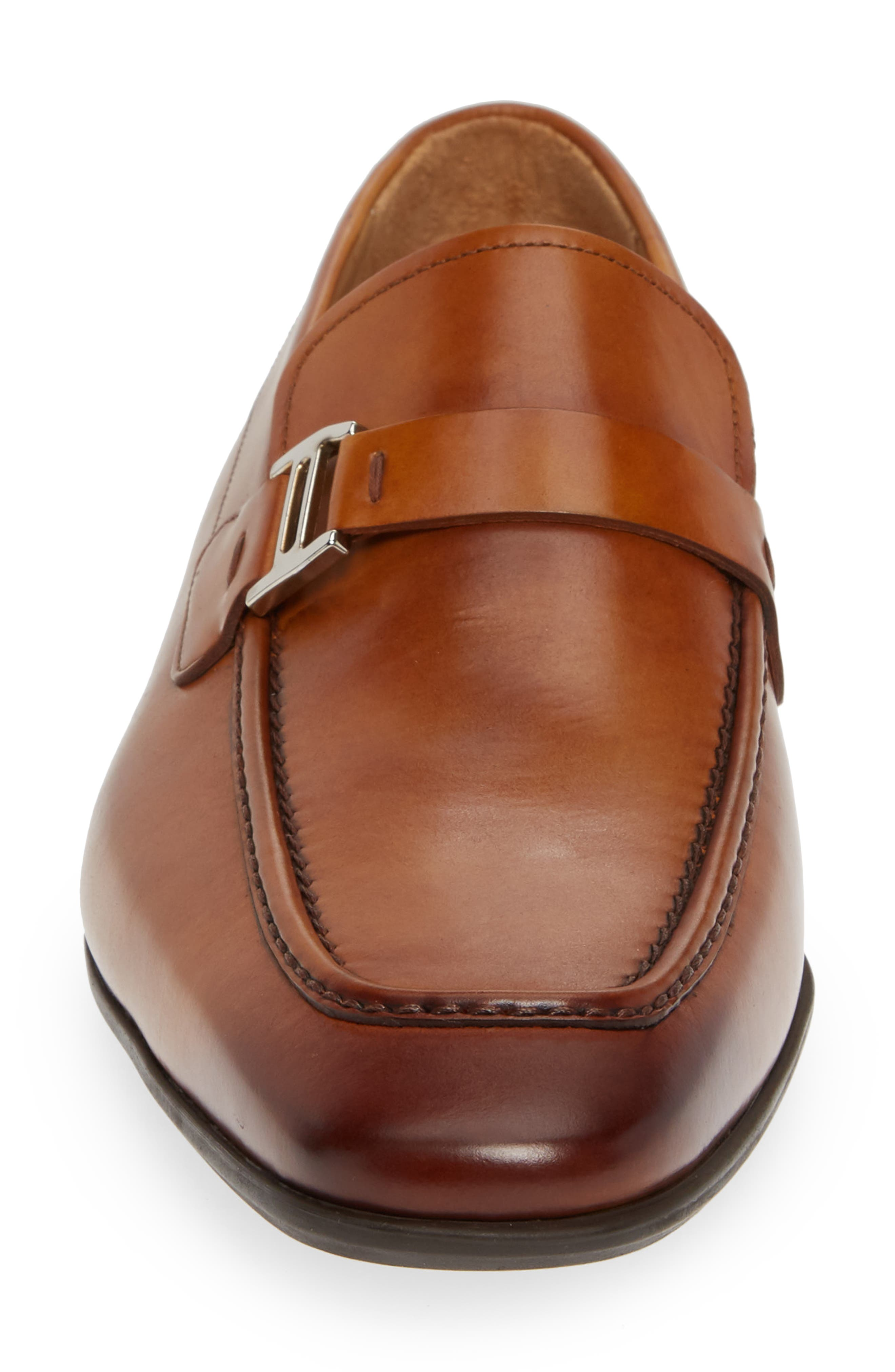 'Lino' Loafer,                             Alternate thumbnail 4, color,                             BROWN LEATHER