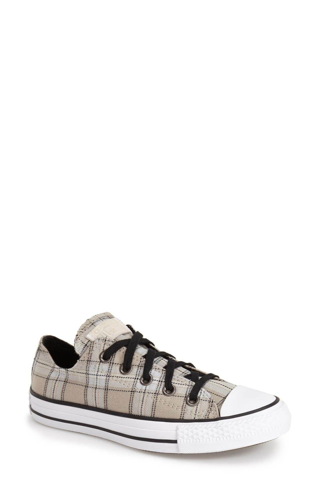 Chuck Taylor<sup>®</sup> All Star<sup>®</sup> Plaid Low Top Sneaker,                             Main thumbnail 1, color,                             250