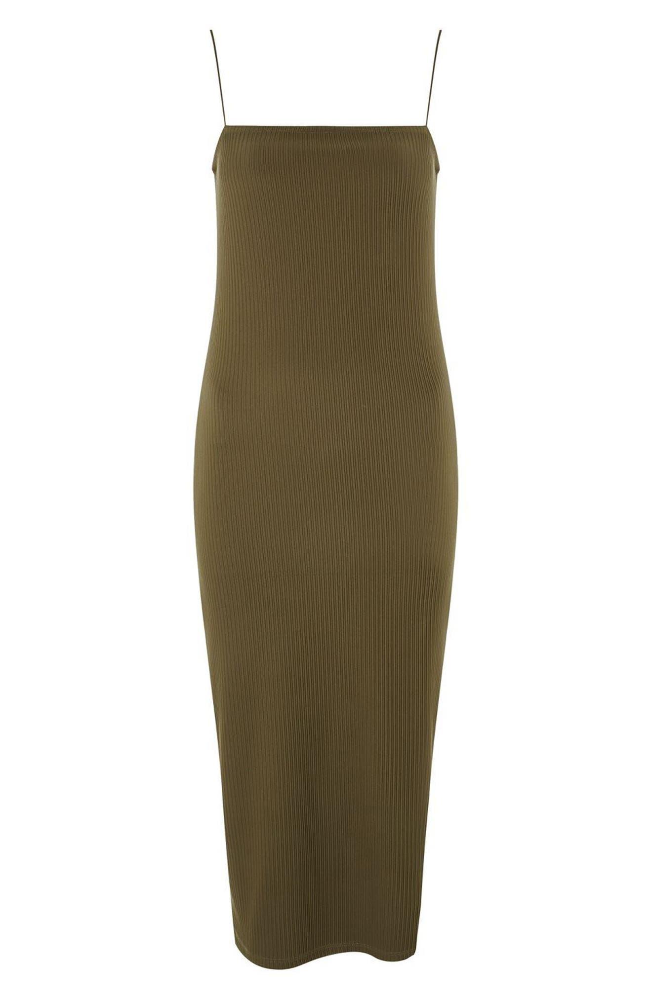 Square Neck Body-Con Midi Dress,                             Alternate thumbnail 8, color,