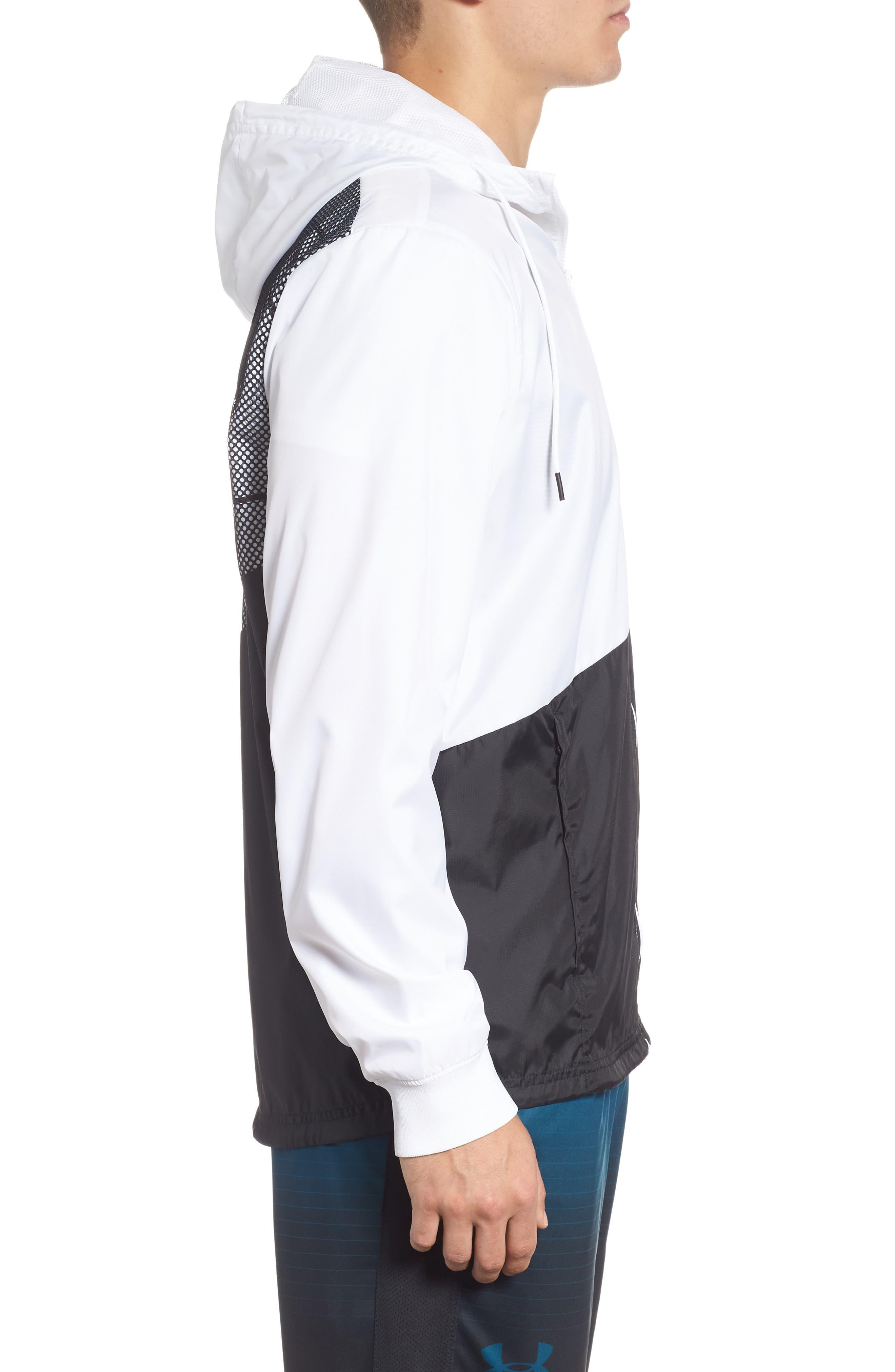 Sportstyle Regular Full Zip Jacket,                             Alternate thumbnail 3, color,                             WHITE