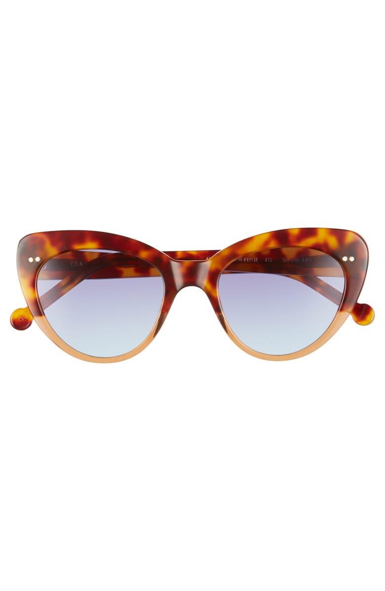 91965a855e7 Shop Colors In Optics Lolita 51Mm Gradient Lens Cat Eye Sunglasses - Red