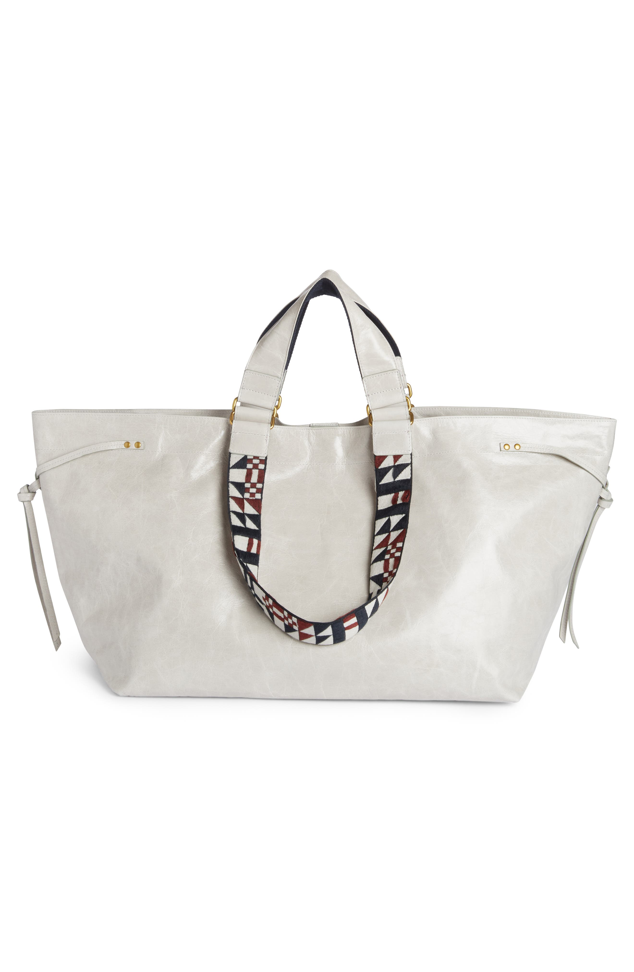 Small Bagya Leather Tote,                             Alternate thumbnail 4, color,