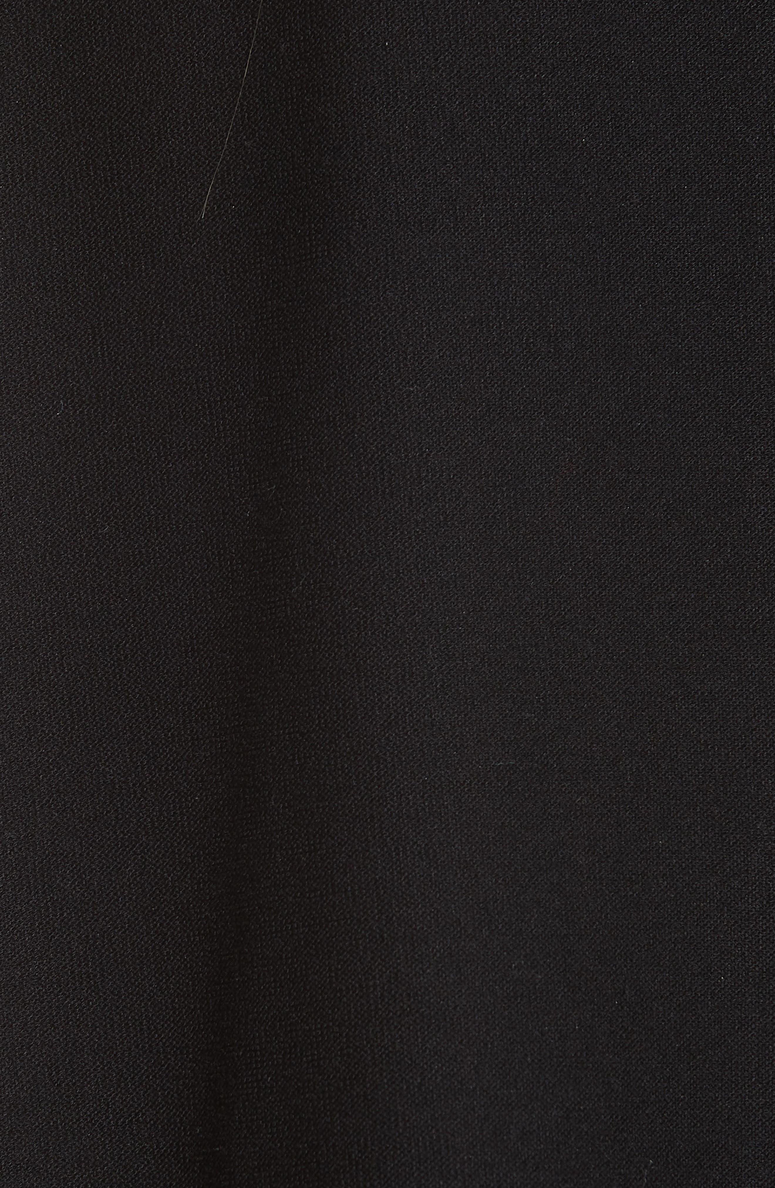 Classic Collar Jacket,                             Alternate thumbnail 6, color,                             BLACK