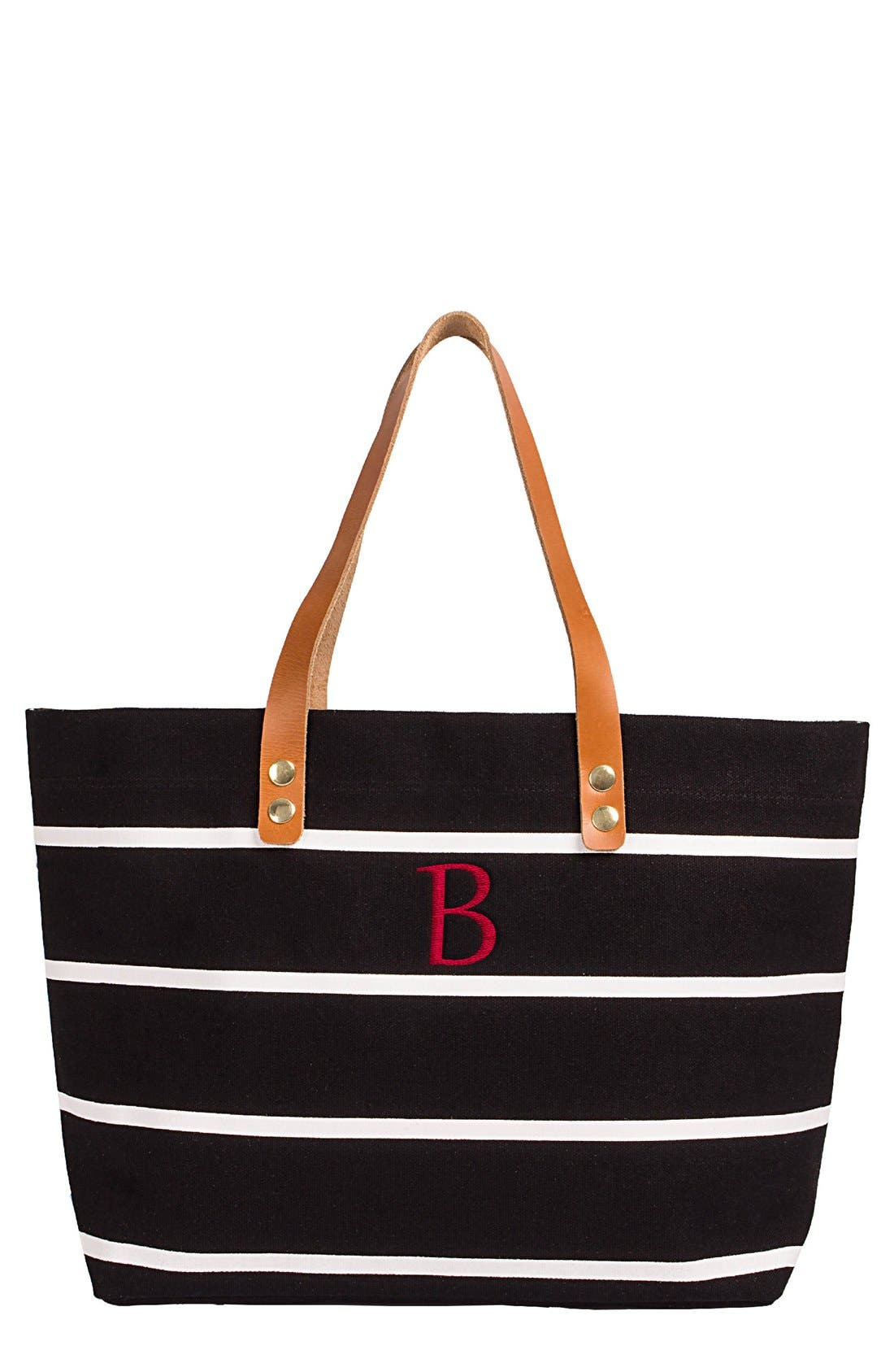Monogram Stripe Tote,                             Main thumbnail 3, color,