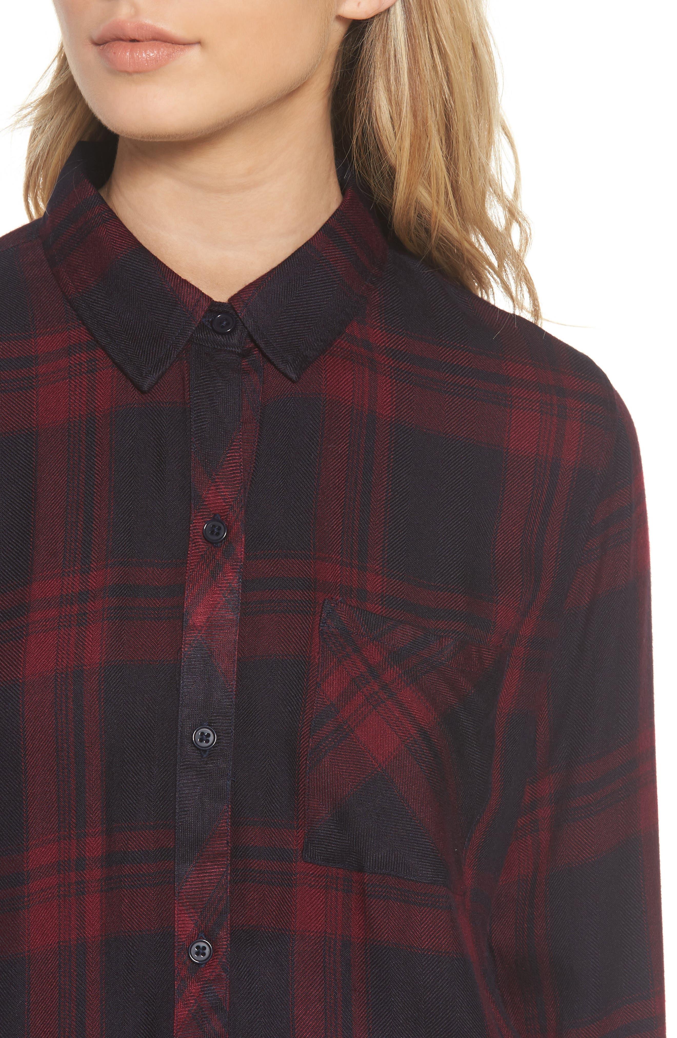 Hunter Plaid Shirt,                             Alternate thumbnail 429, color,