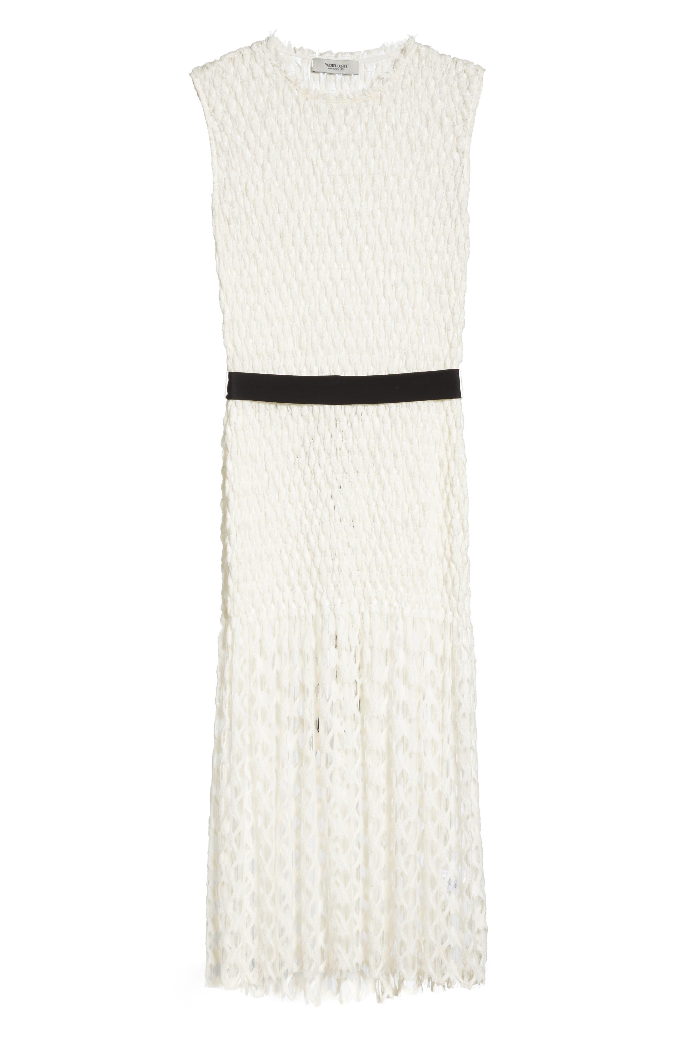 Merge Midi Dress,                             Alternate thumbnail 6, color,                             OFF WHITE