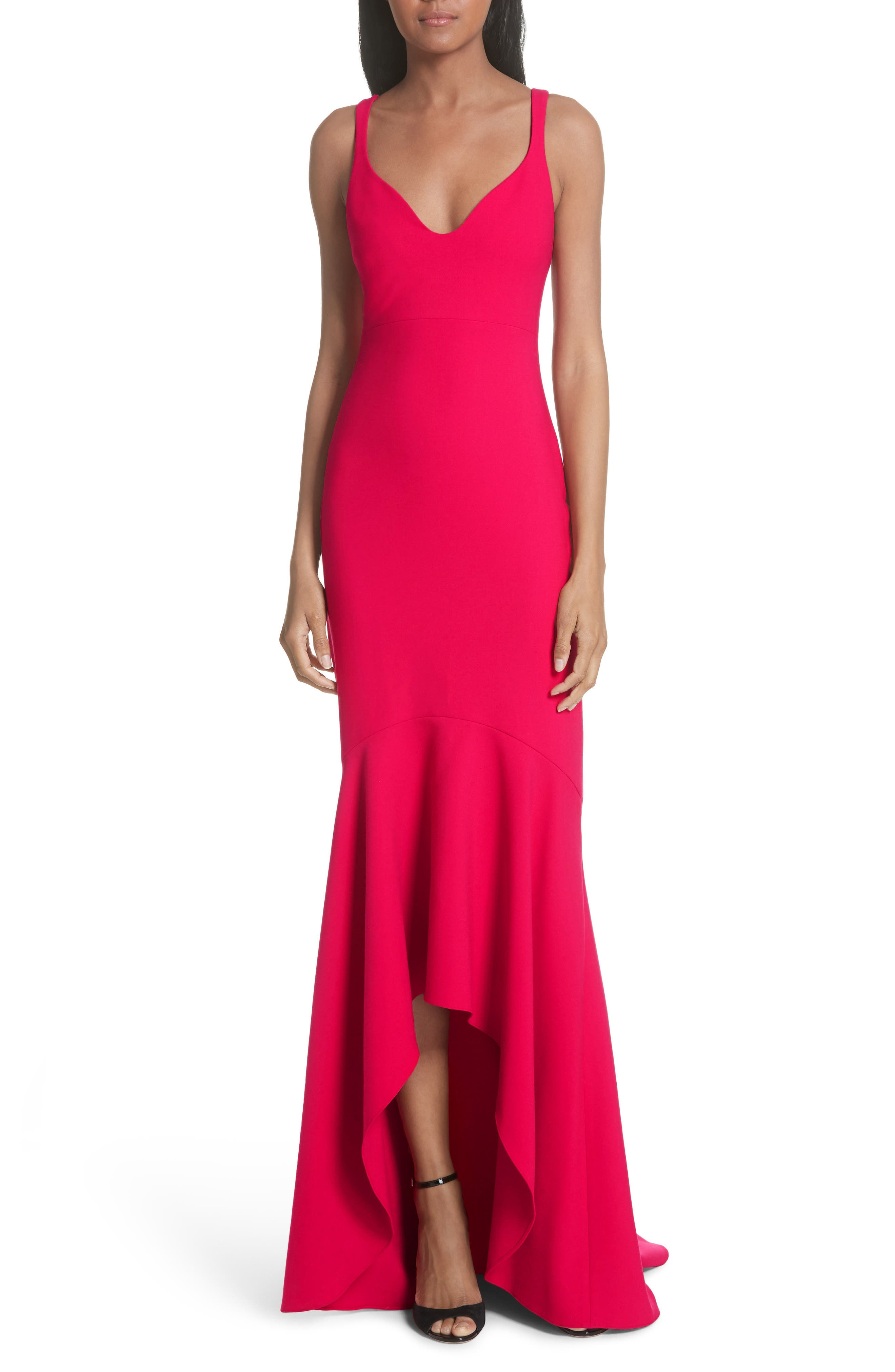 Cinq A Sept Sade Gown, Red
