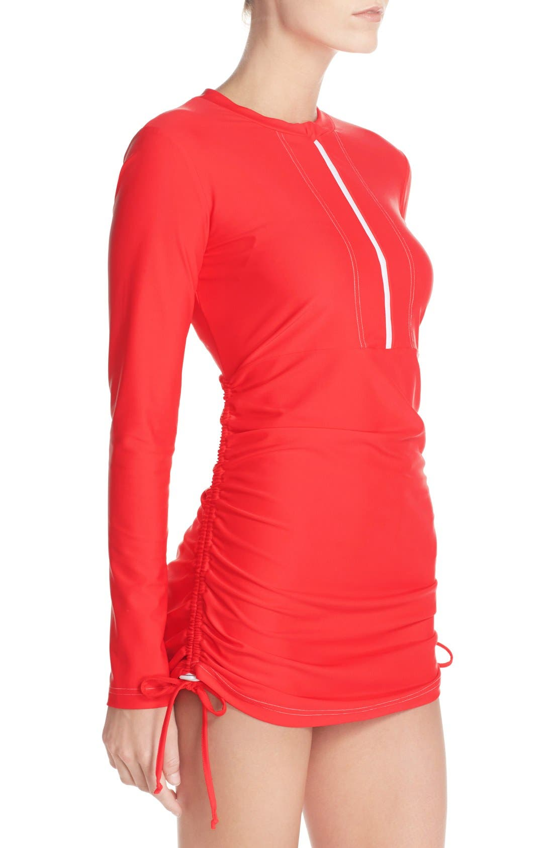 'Sonja' Long Sleeve Half Zip Convertible Swimdress,                             Alternate thumbnail 43, color,