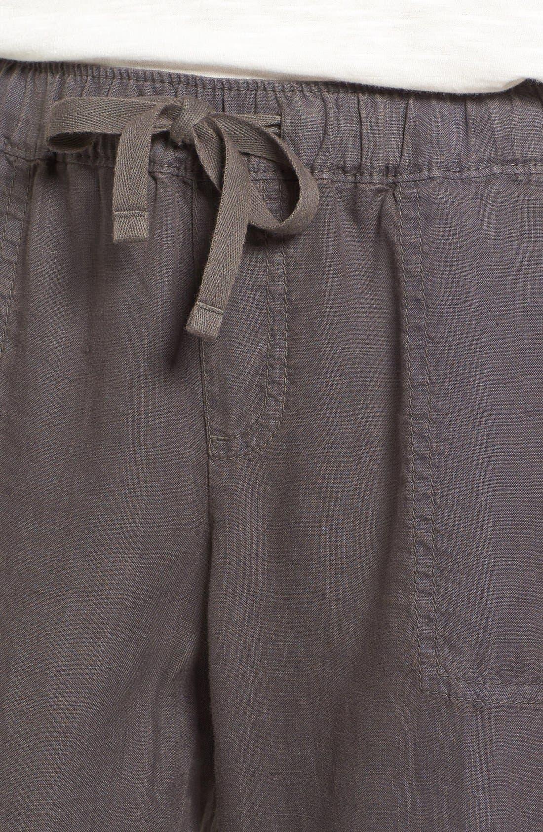 Crop Linen Joggers,                             Alternate thumbnail 21, color,