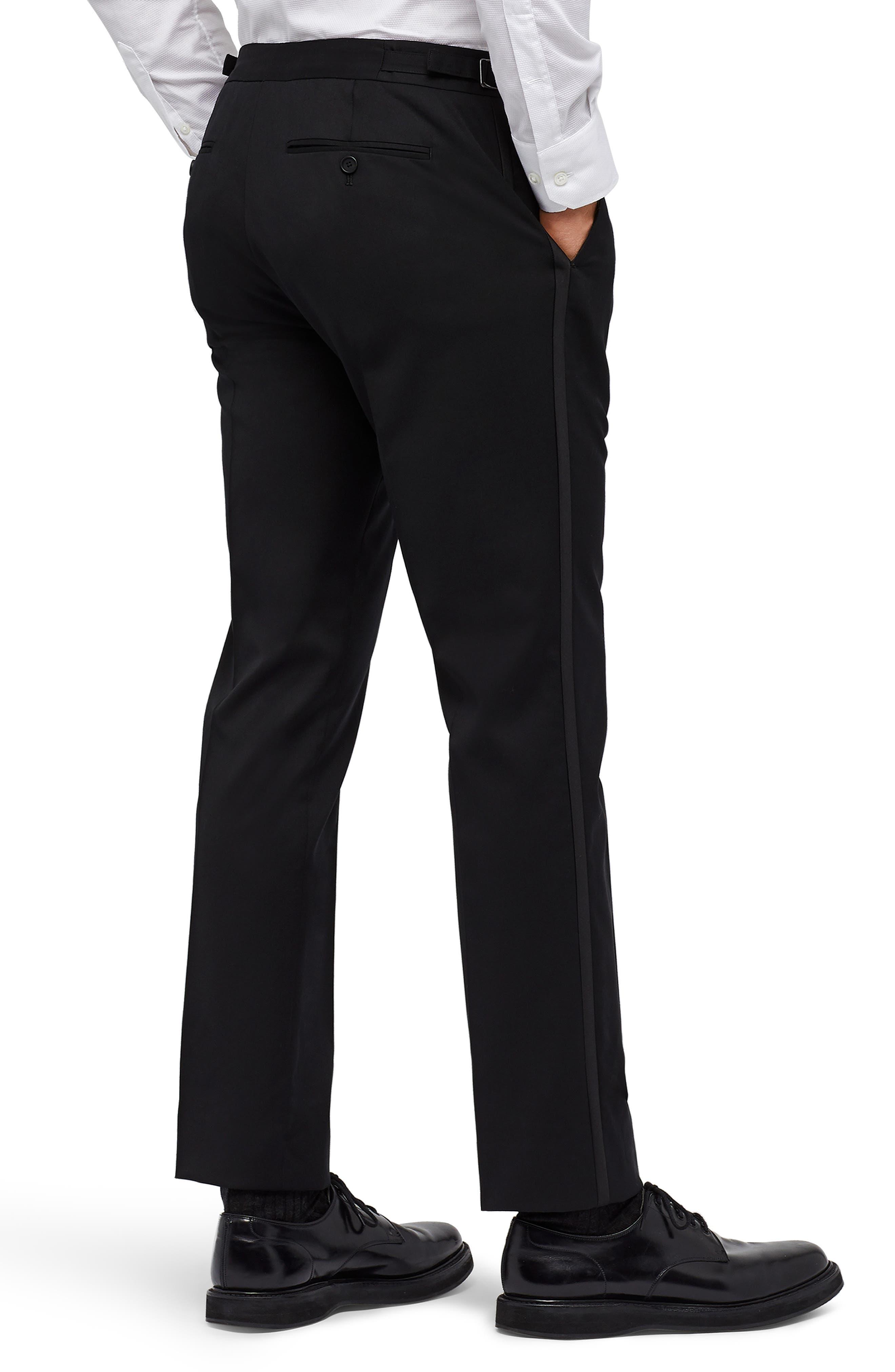 Slim Fit Performance Tuxedo Pants,                             Alternate thumbnail 2, color,                             BLACK