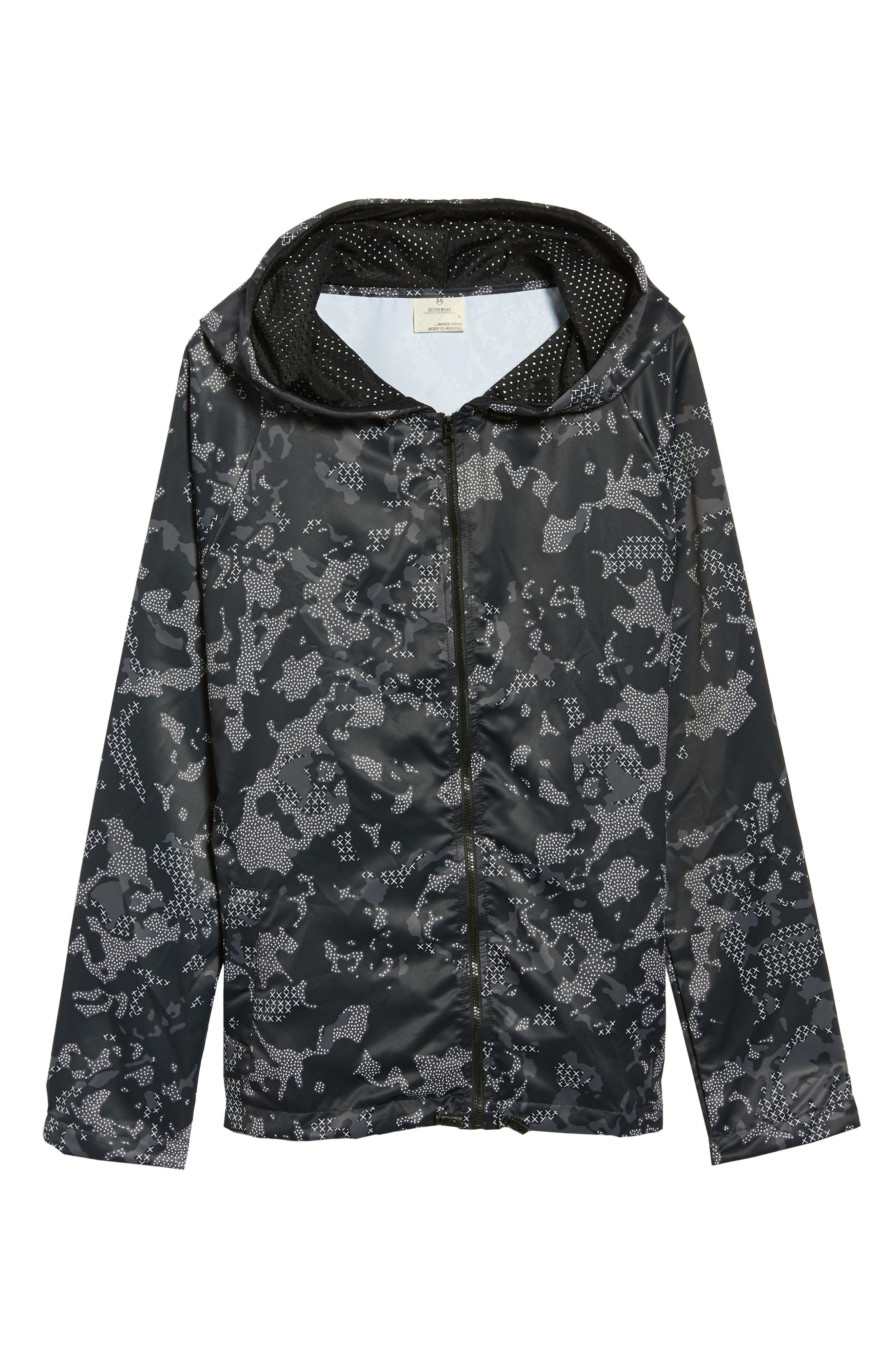 Brisk Black Camo Jacket,                             Alternate thumbnail 2, color,                             001