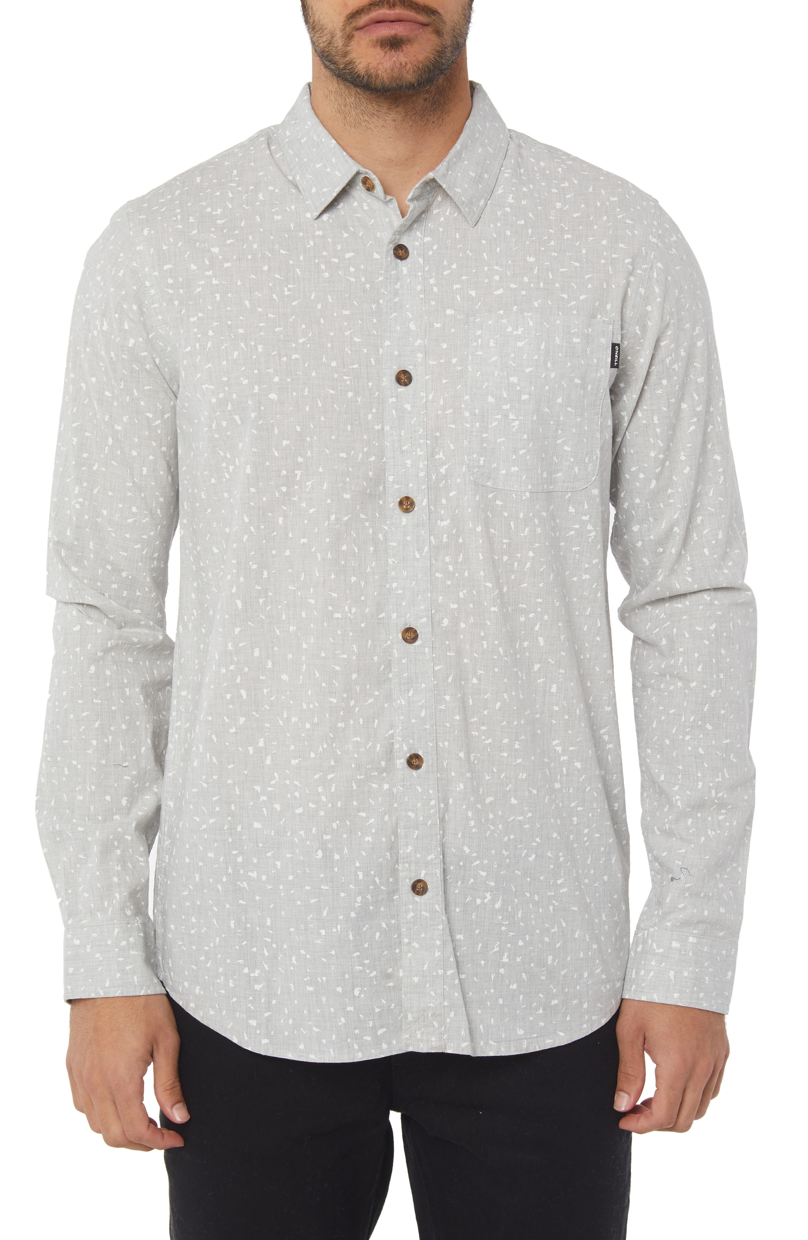 Phases Print Shirt,                         Main,                         color, LIGHT GREY