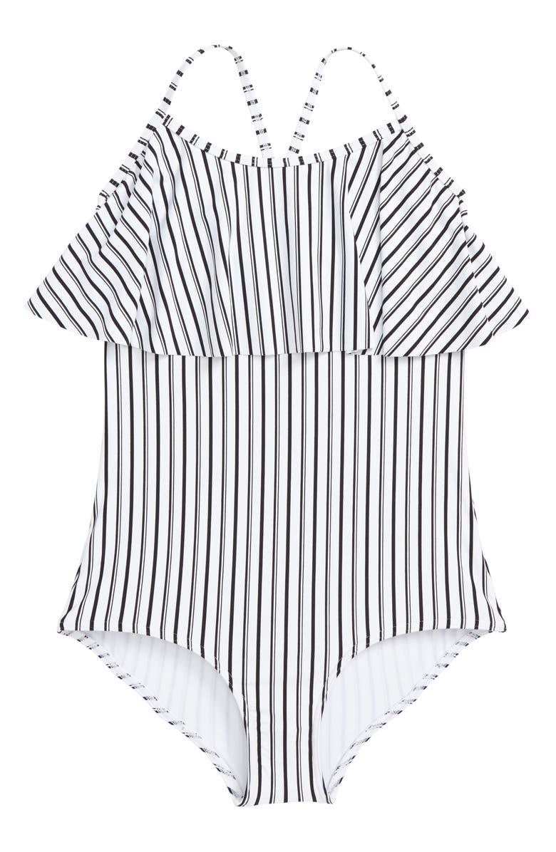 87046f633ed85 O Neill Highway Stripe One-Piece Swimsuit (Big Girls)