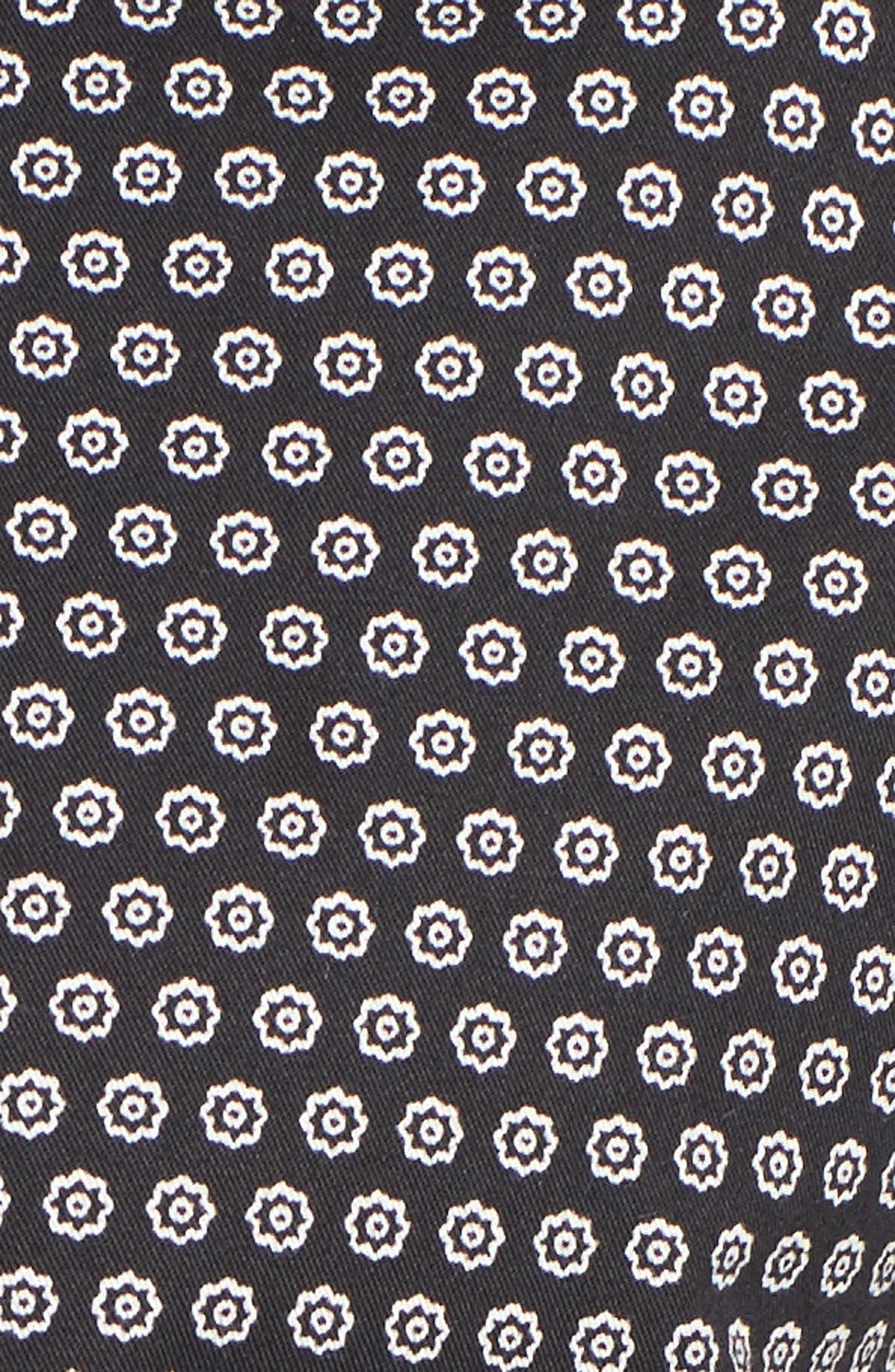 Braaks Extra Slim Fit Flower Print Sport Shirt,                             Alternate thumbnail 5, color,                             001