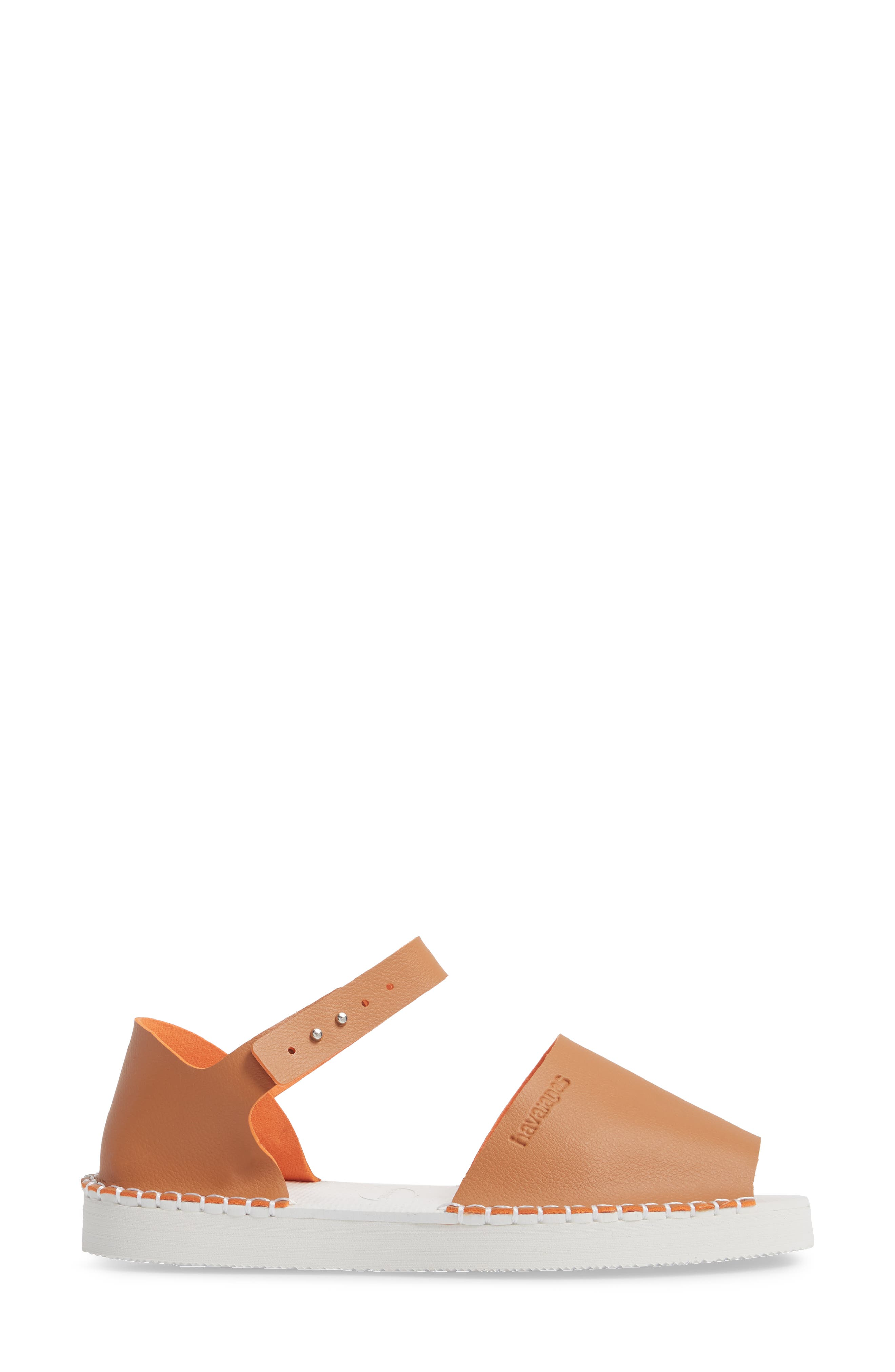 Flatform Fashion Sandal,                             Alternate thumbnail 3, color,                             CAMEL