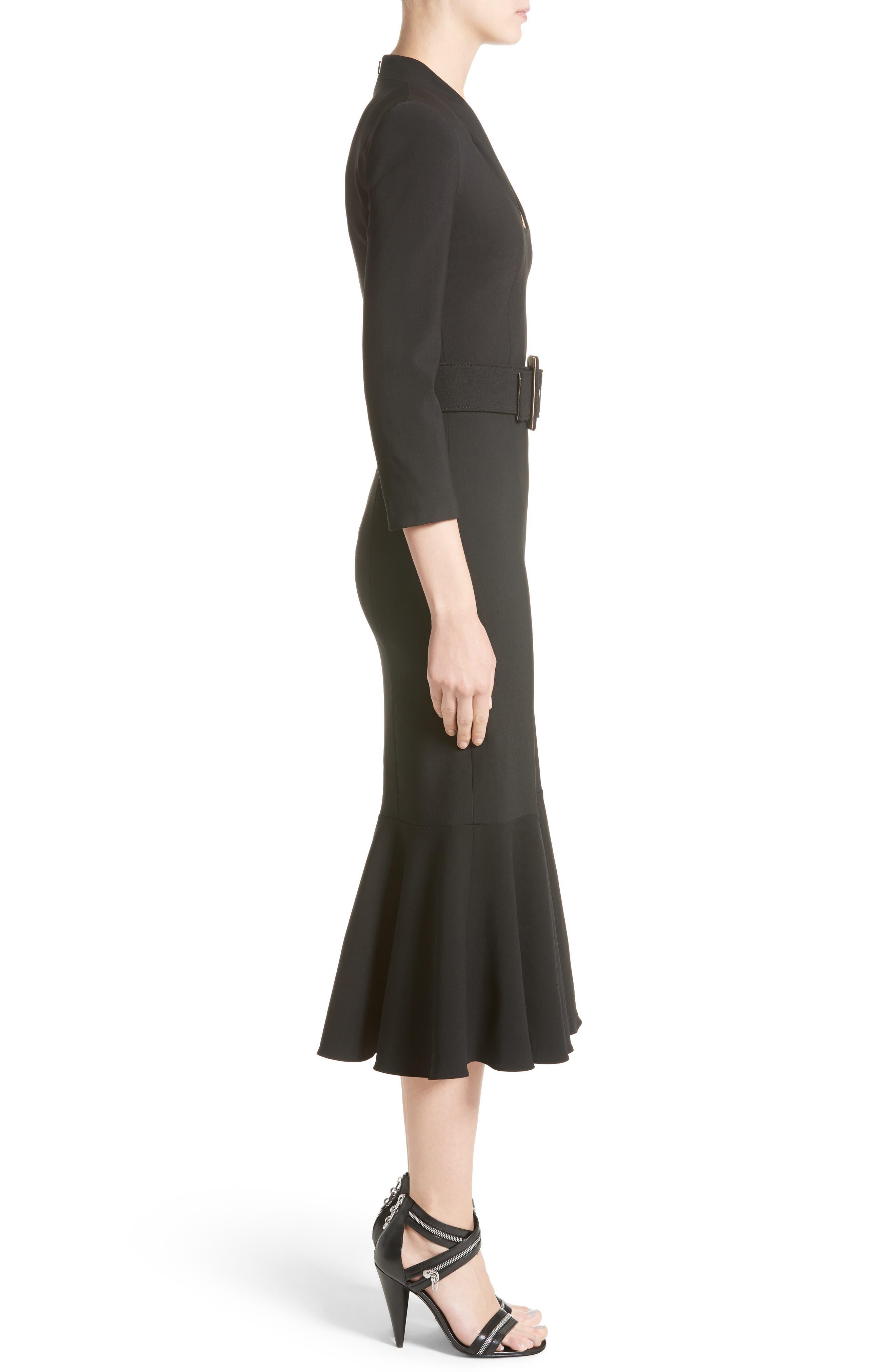 Stretch Pebble Crepe Bolero Sheath Dress,                             Alternate thumbnail 3, color,