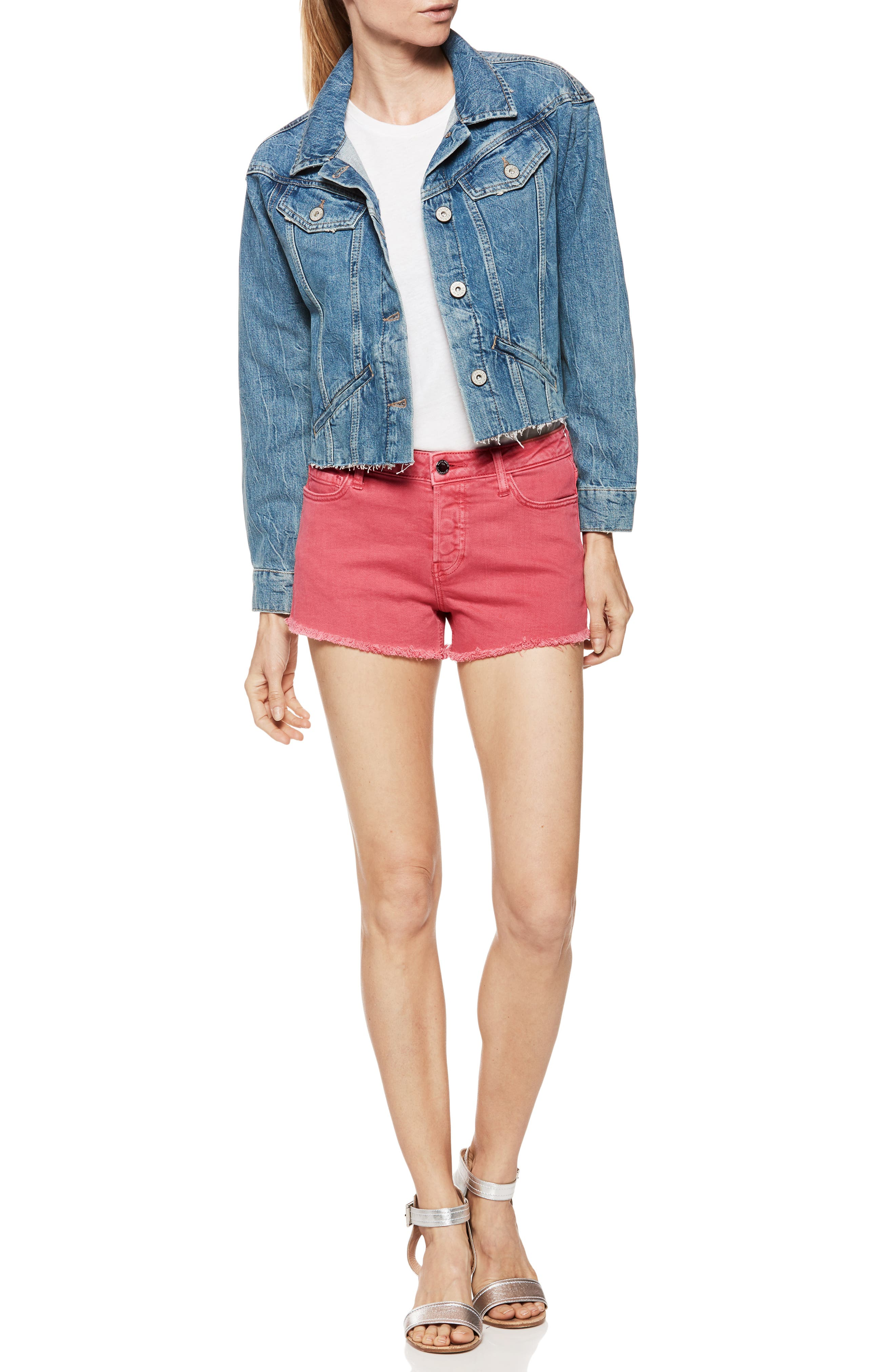 Emmit Relaxed Denim Shorts,                             Alternate thumbnail 5, color,                             601