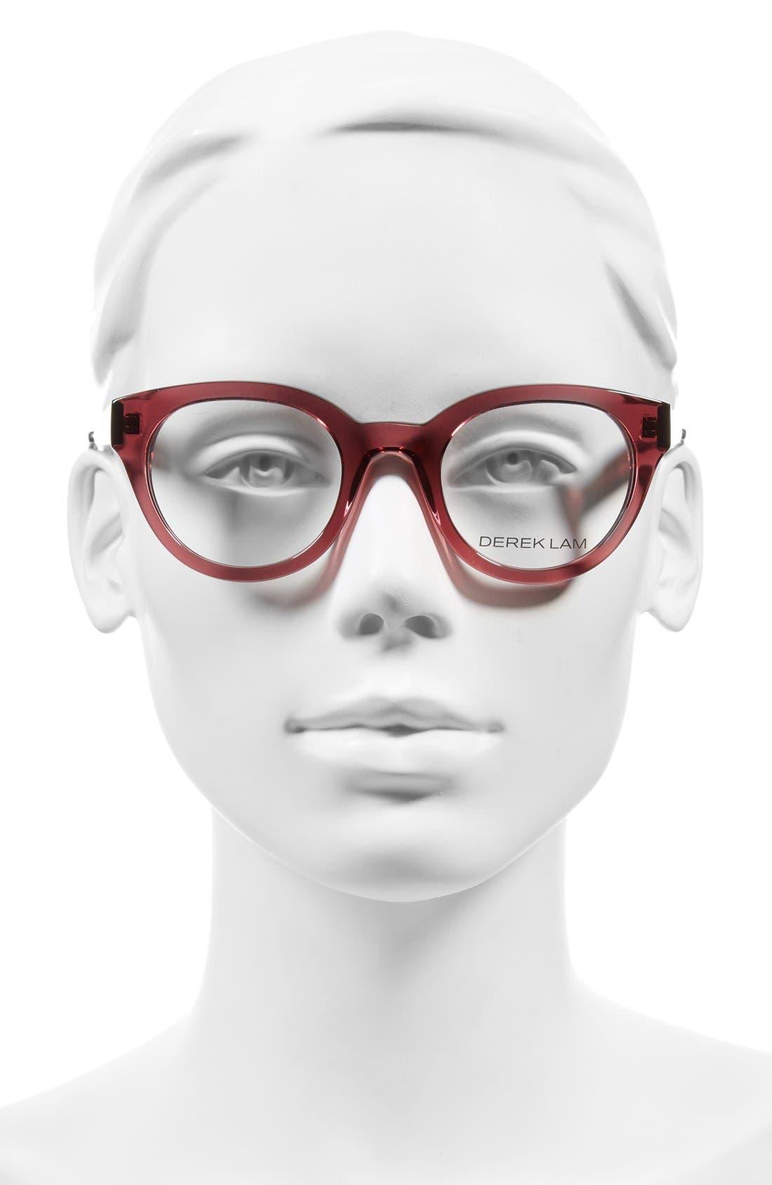47mm Optical Glasses,                             Alternate thumbnail 2, color,                             DARK PINK