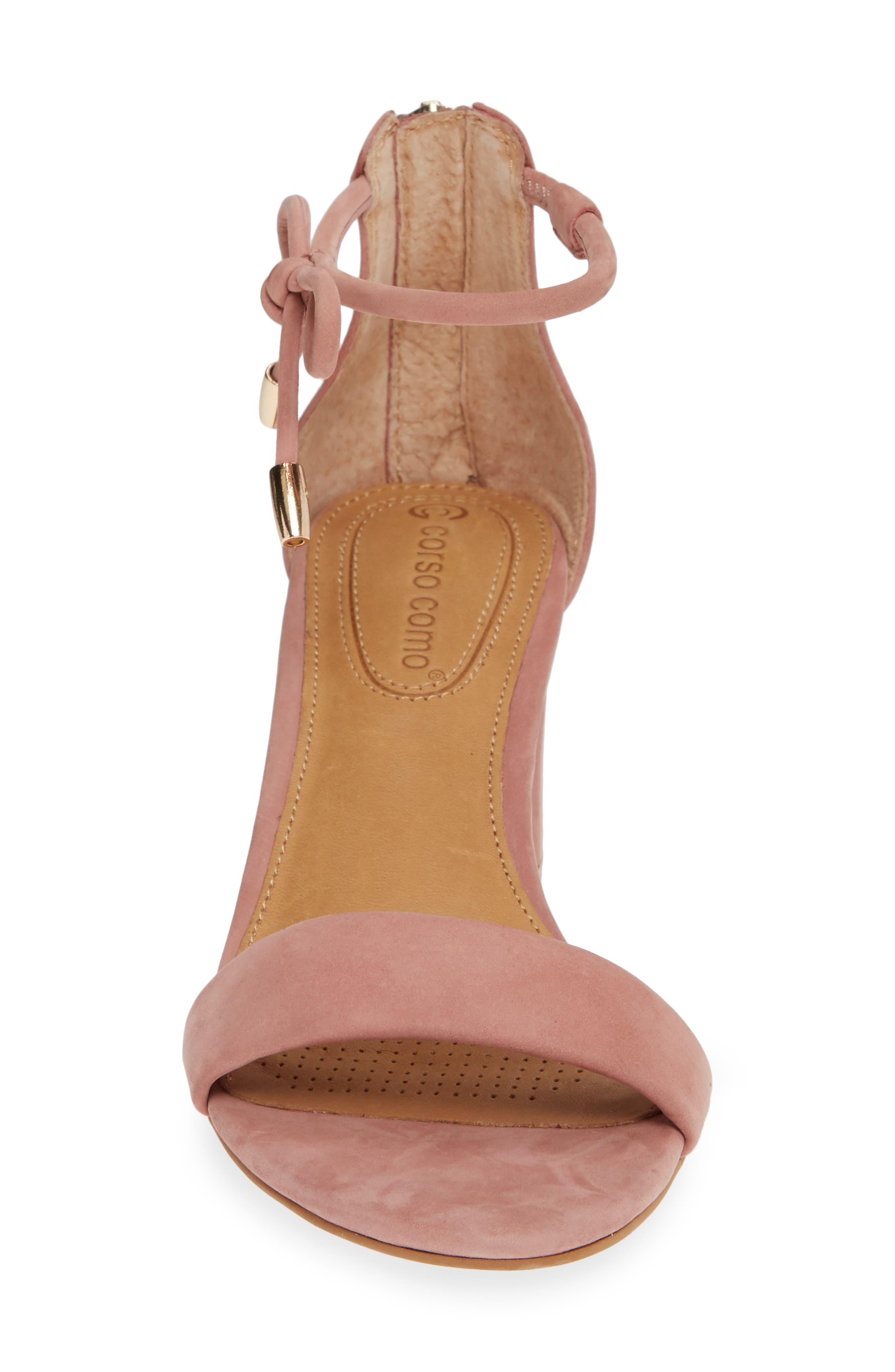 Celebratt Ankle Strap Sandal,                             Alternate thumbnail 4, color,                             OLD ROSE NUBUCK LEATHER