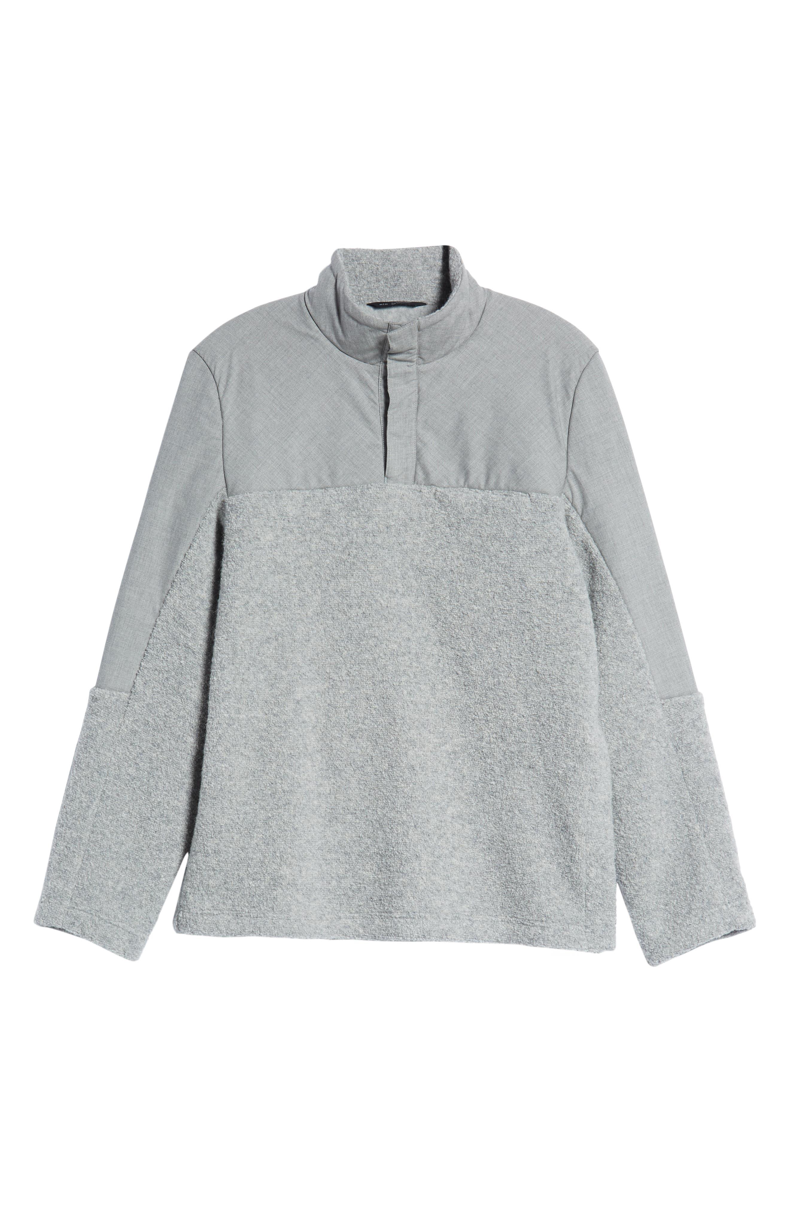 Tactical Fleece Pullover,                             Alternate thumbnail 6, color,                             HEATHER GREY