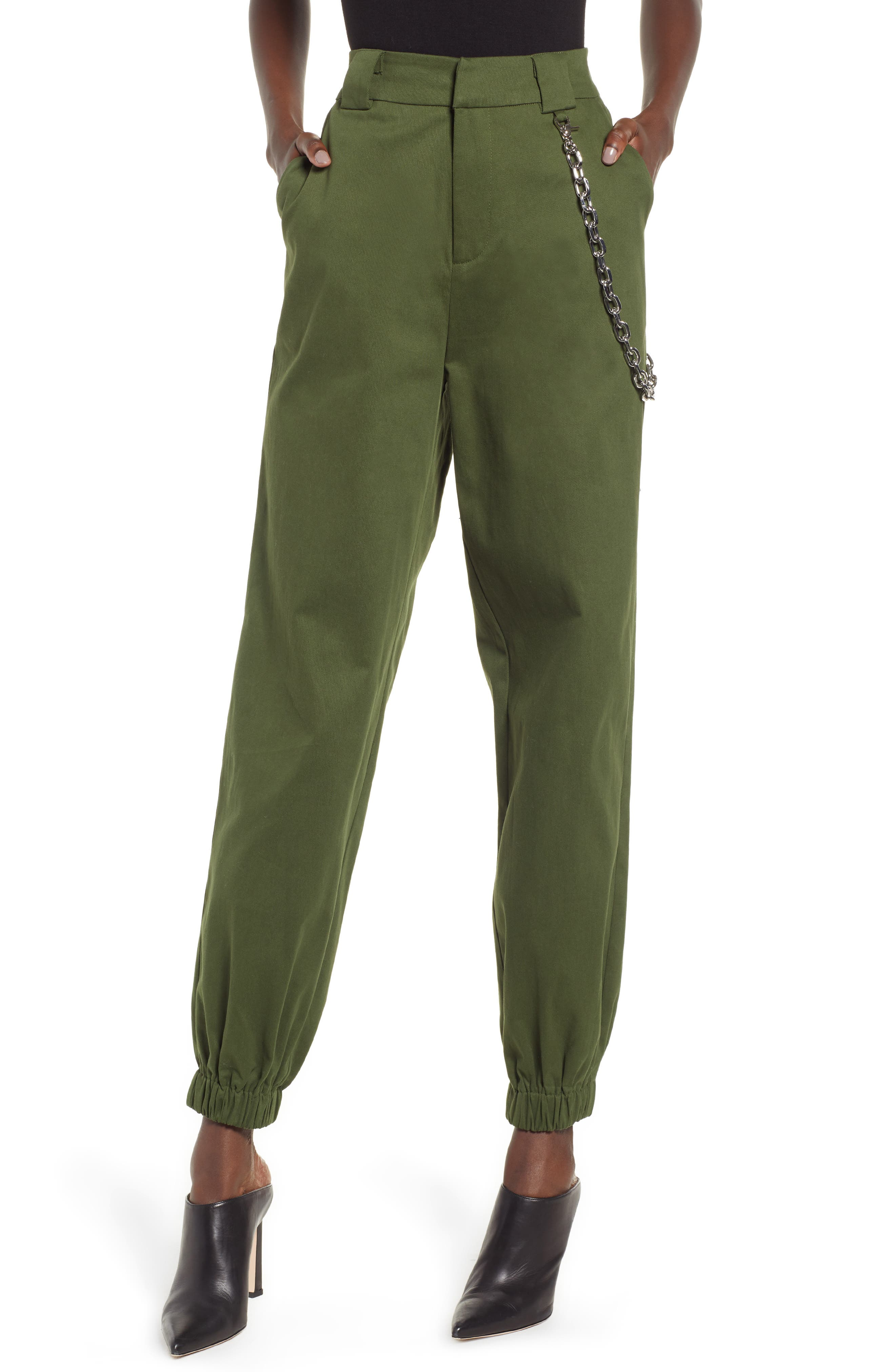 I.AM.GIA Cobain Pants,                         Main,                         color, OLIVE