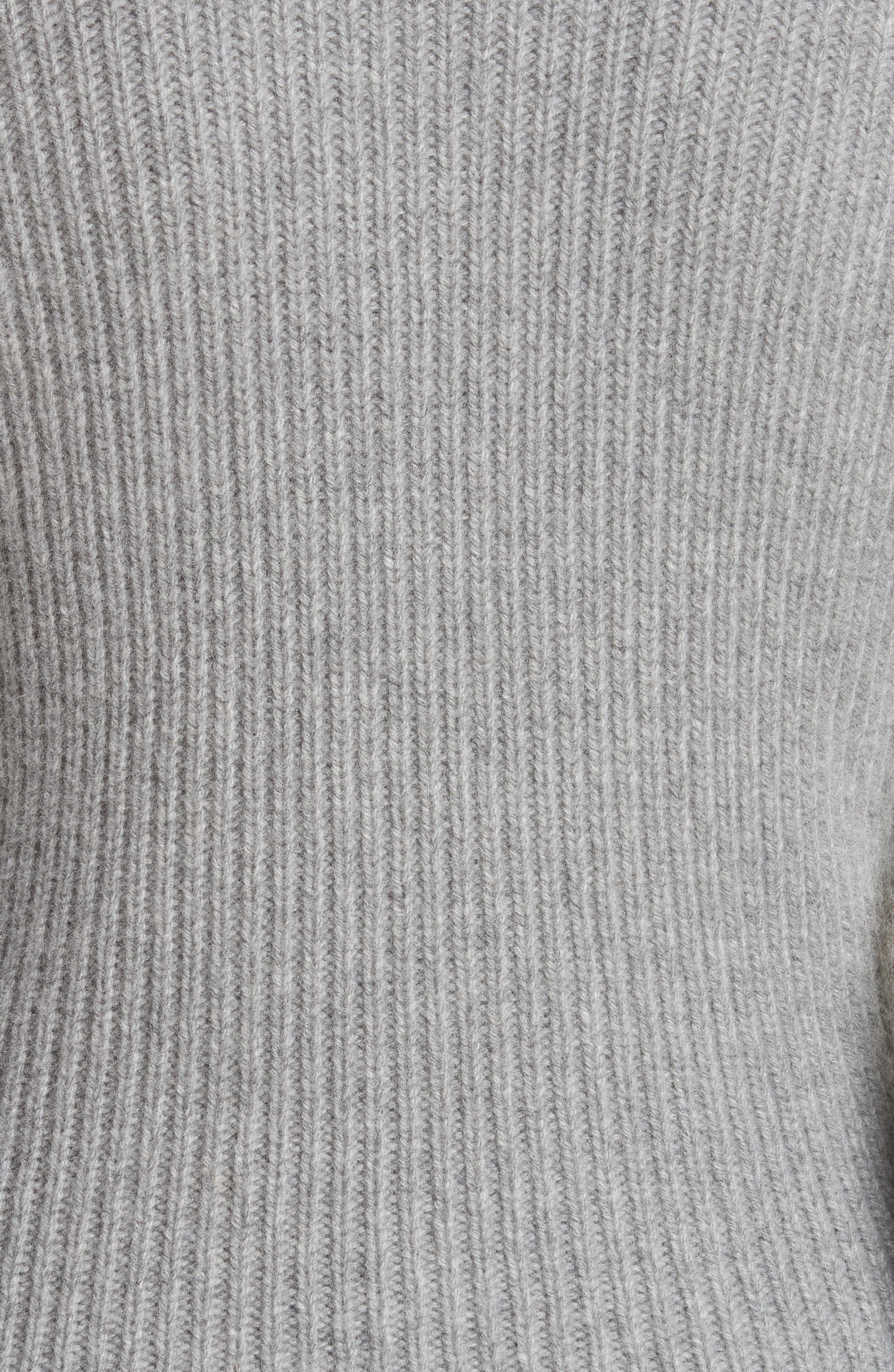 Puff Lantern Sleeve Wool & Cashmere Blend Sweater,                             Alternate thumbnail 5, color,                             020