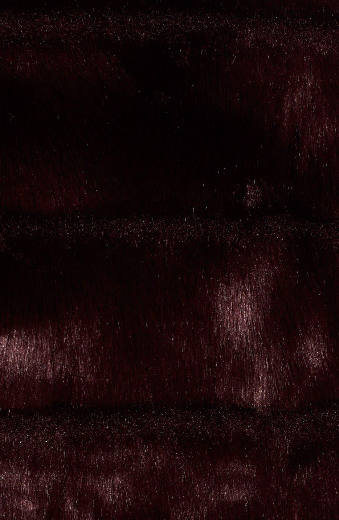 Grooved FauxFur Coat,                             Alternate thumbnail 19, color,