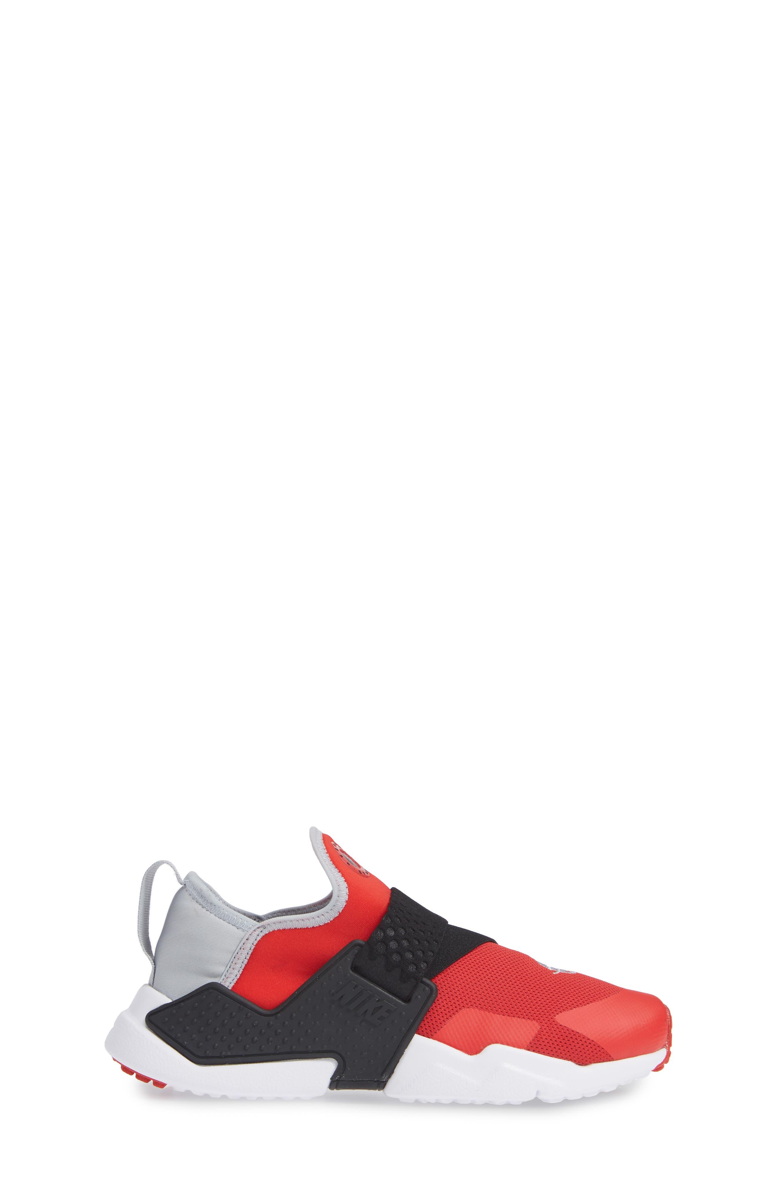 Huarache Extreme Sneaker,                             Alternate thumbnail 3, color,                             RED/ GREY/ BLACK/ WHITE