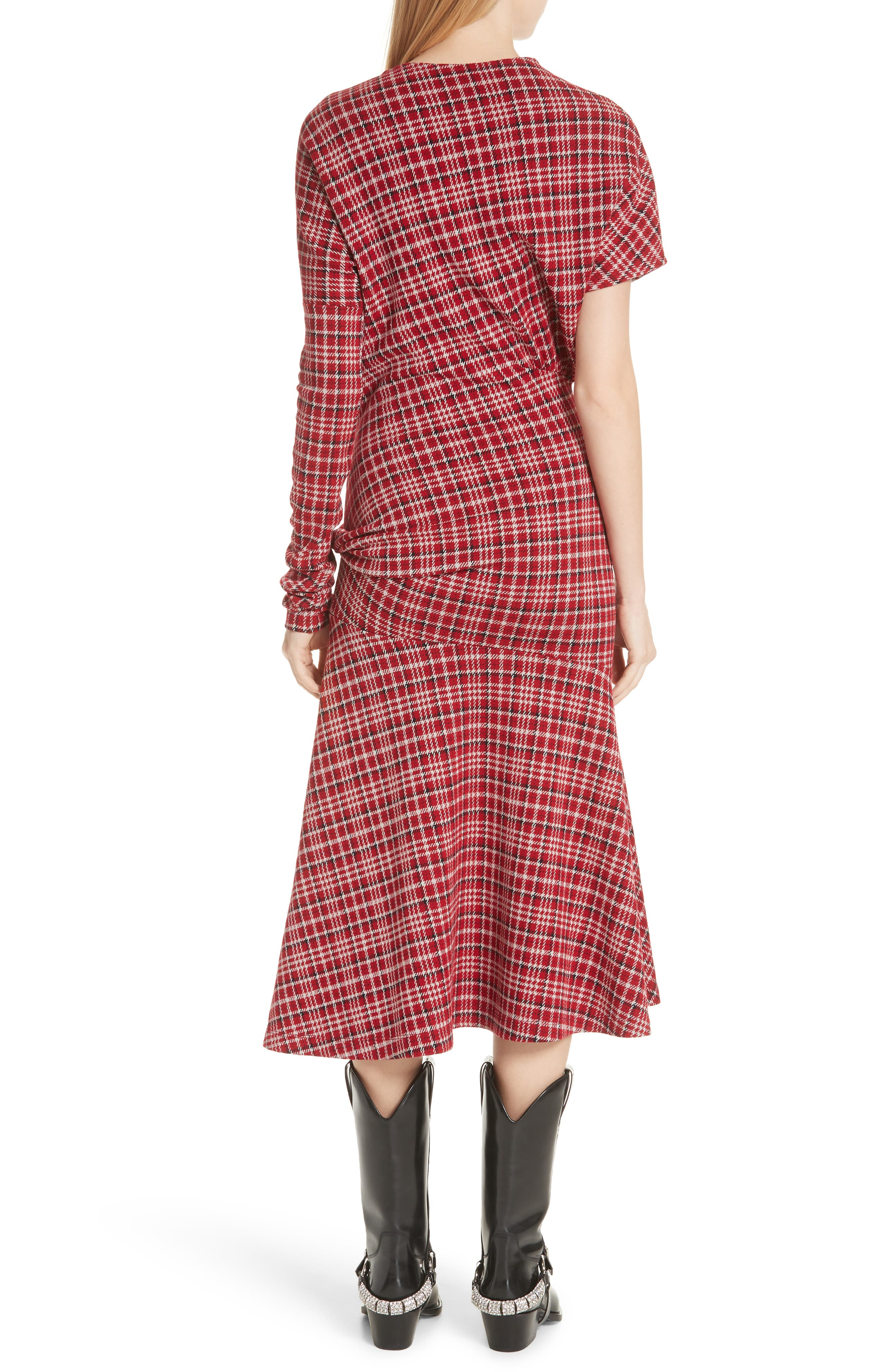 Tartan Asymmetrical Dress,                             Alternate thumbnail 2, color,                             649