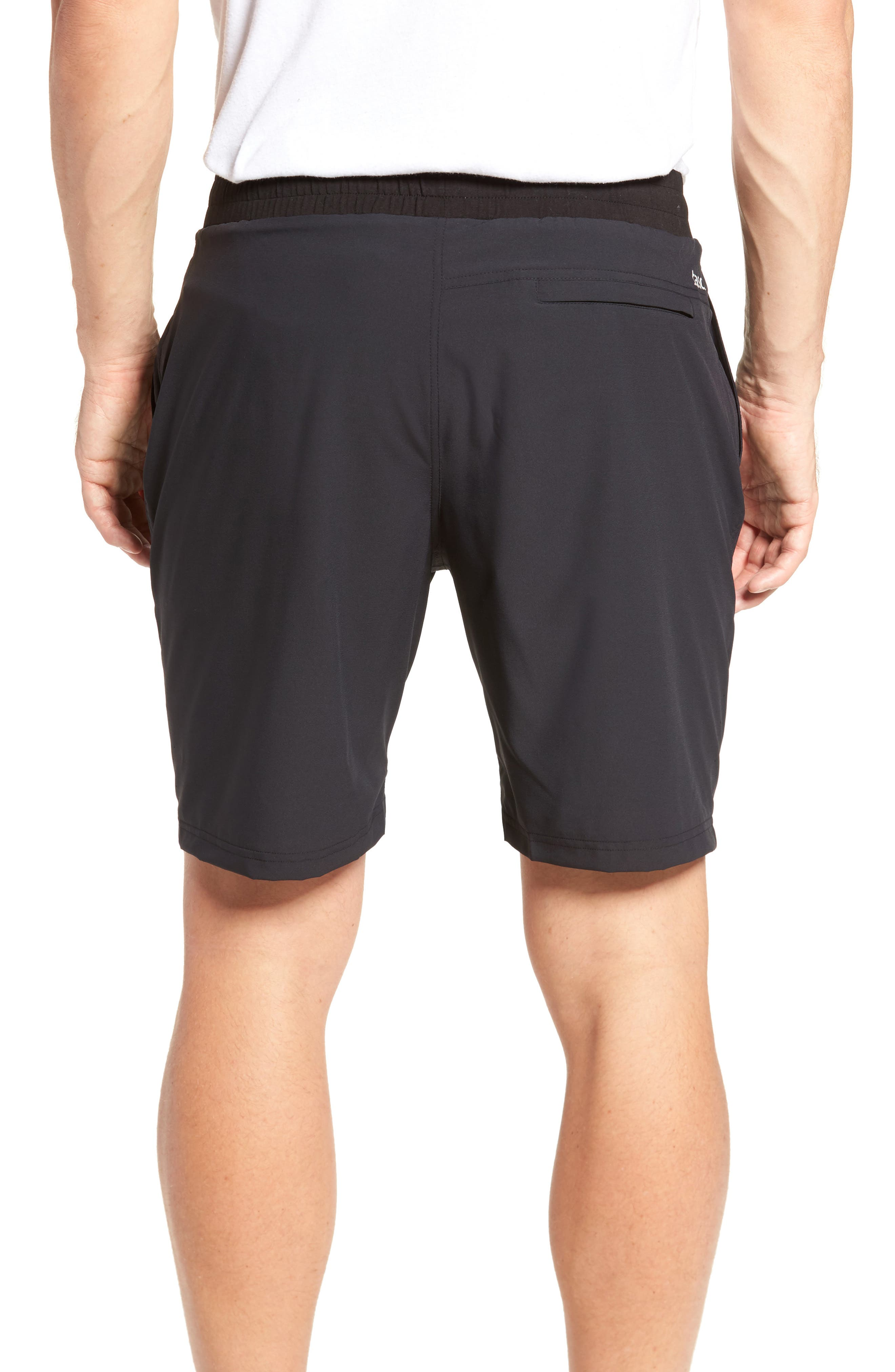 Charge Water Resistant Athletic Shorts,                             Alternate thumbnail 2, color,                             BLACK