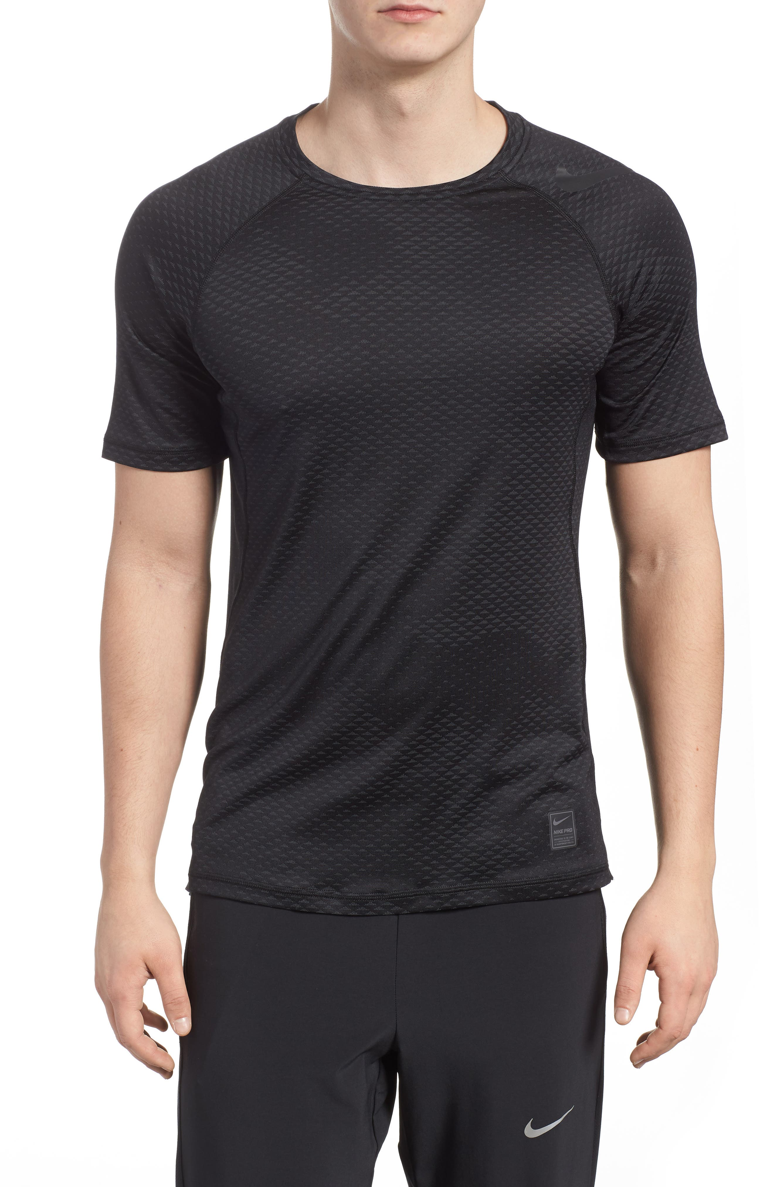 Pro HyperCool Fitted Crewneck T-Shirt,                             Main thumbnail 1, color,                             010