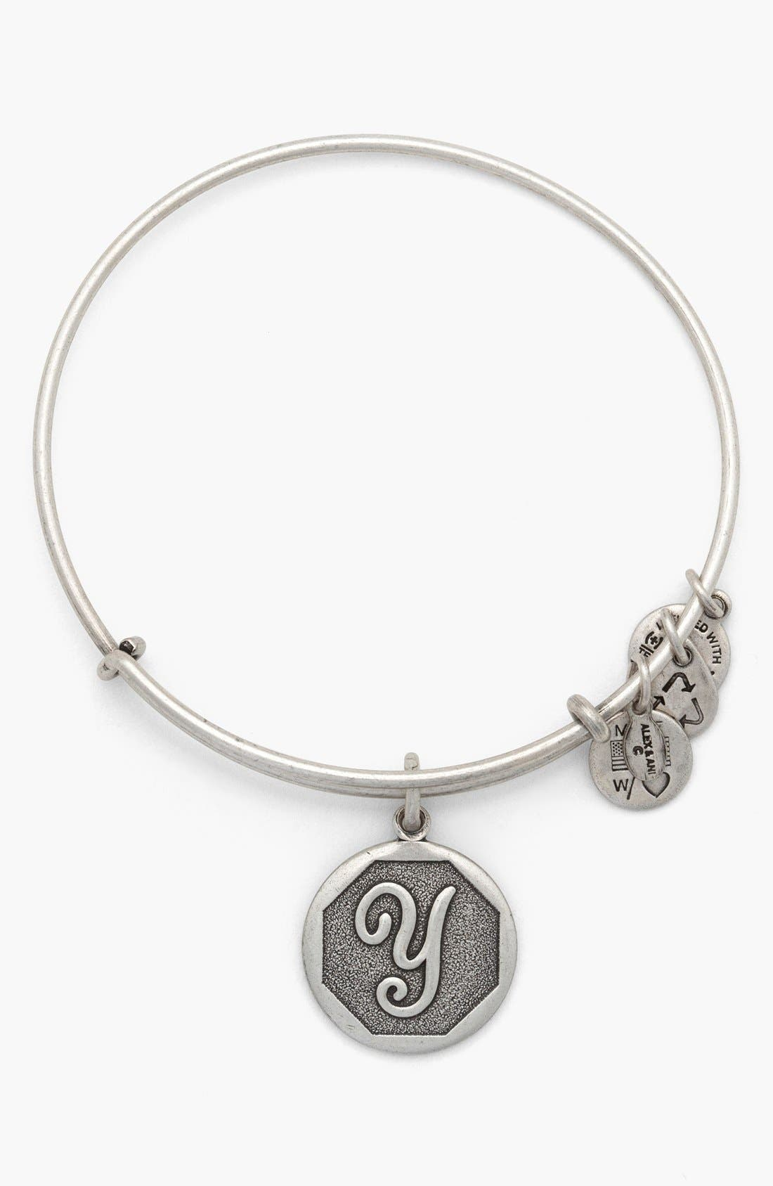 'Initial' Adjustable Wire Bangle,                             Main thumbnail 25, color,