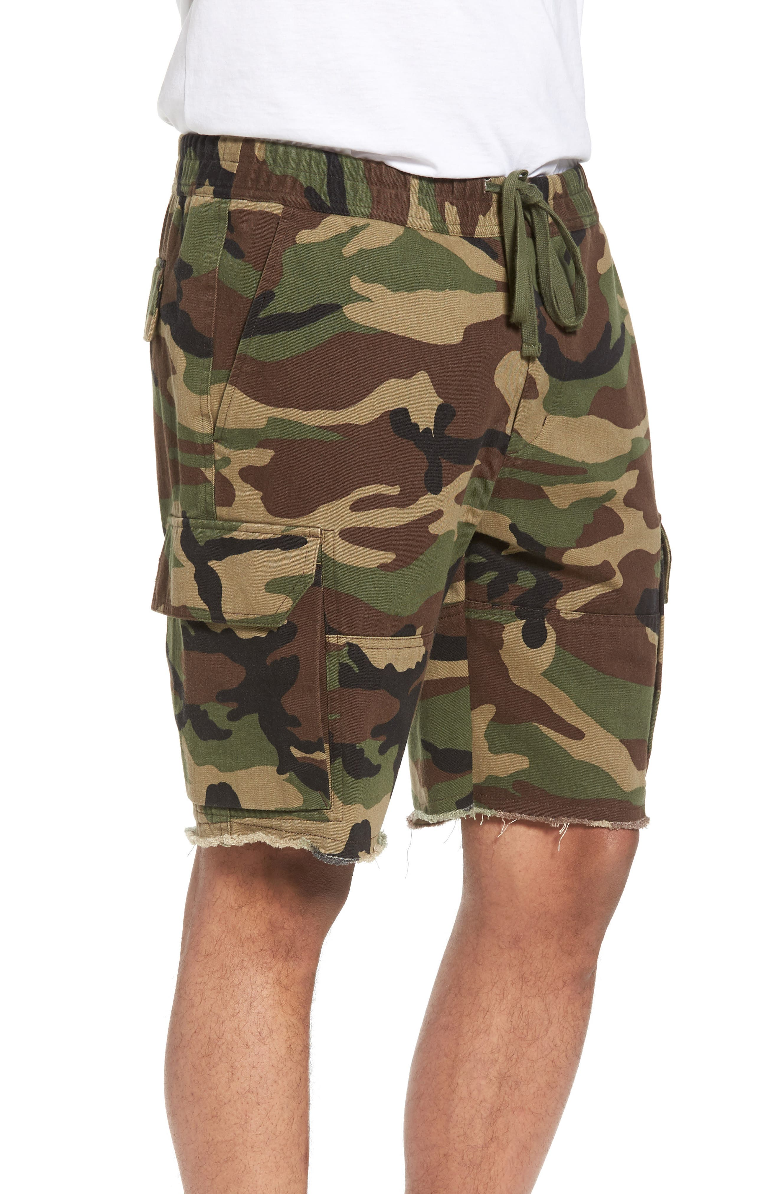 Slim Fit Cargo Shorts,                             Alternate thumbnail 3, color,                             300